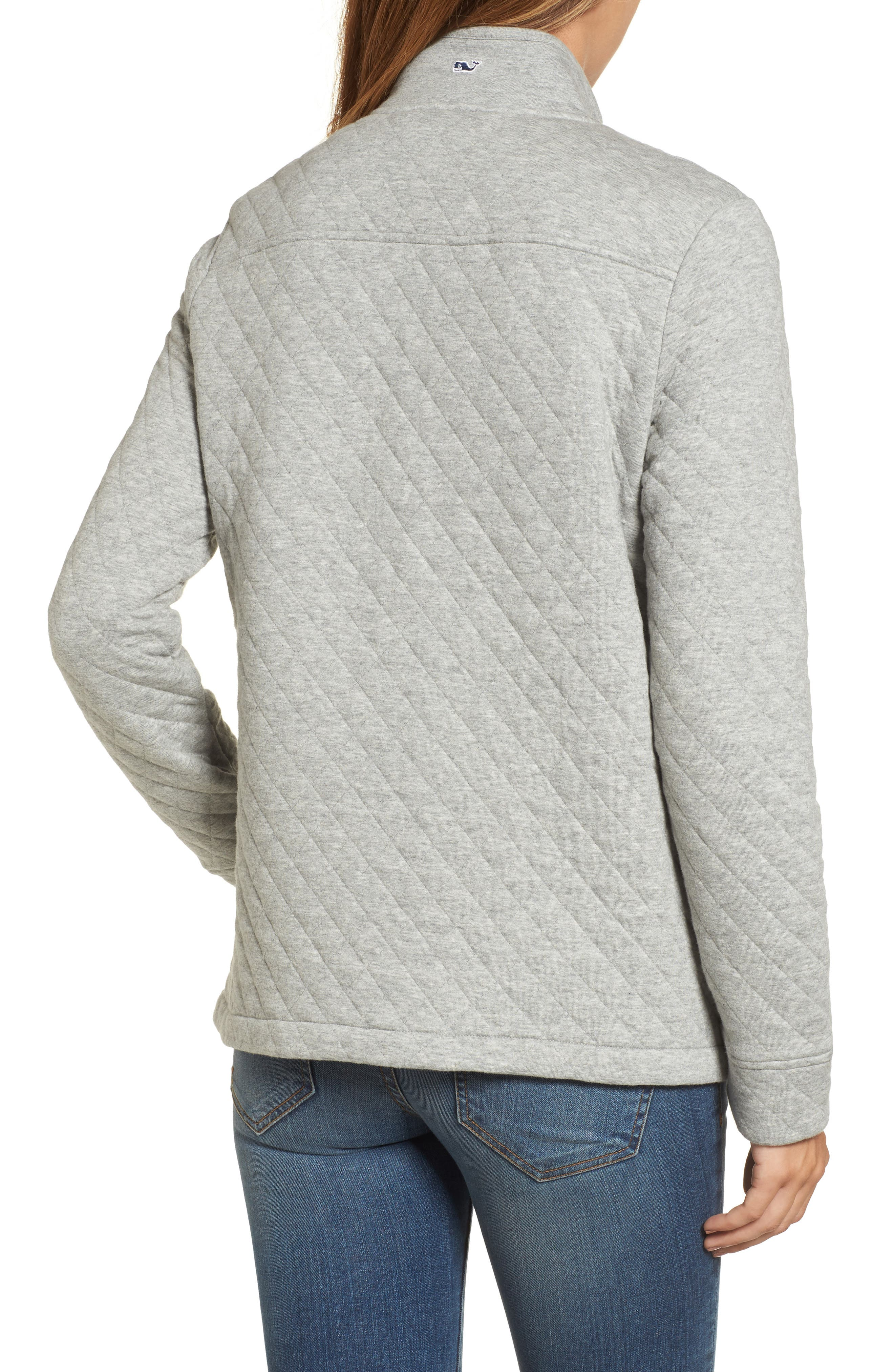 Shep Quilted Quarter Zip Pullover,                             Alternate thumbnail 2, color,                             Silver Fox