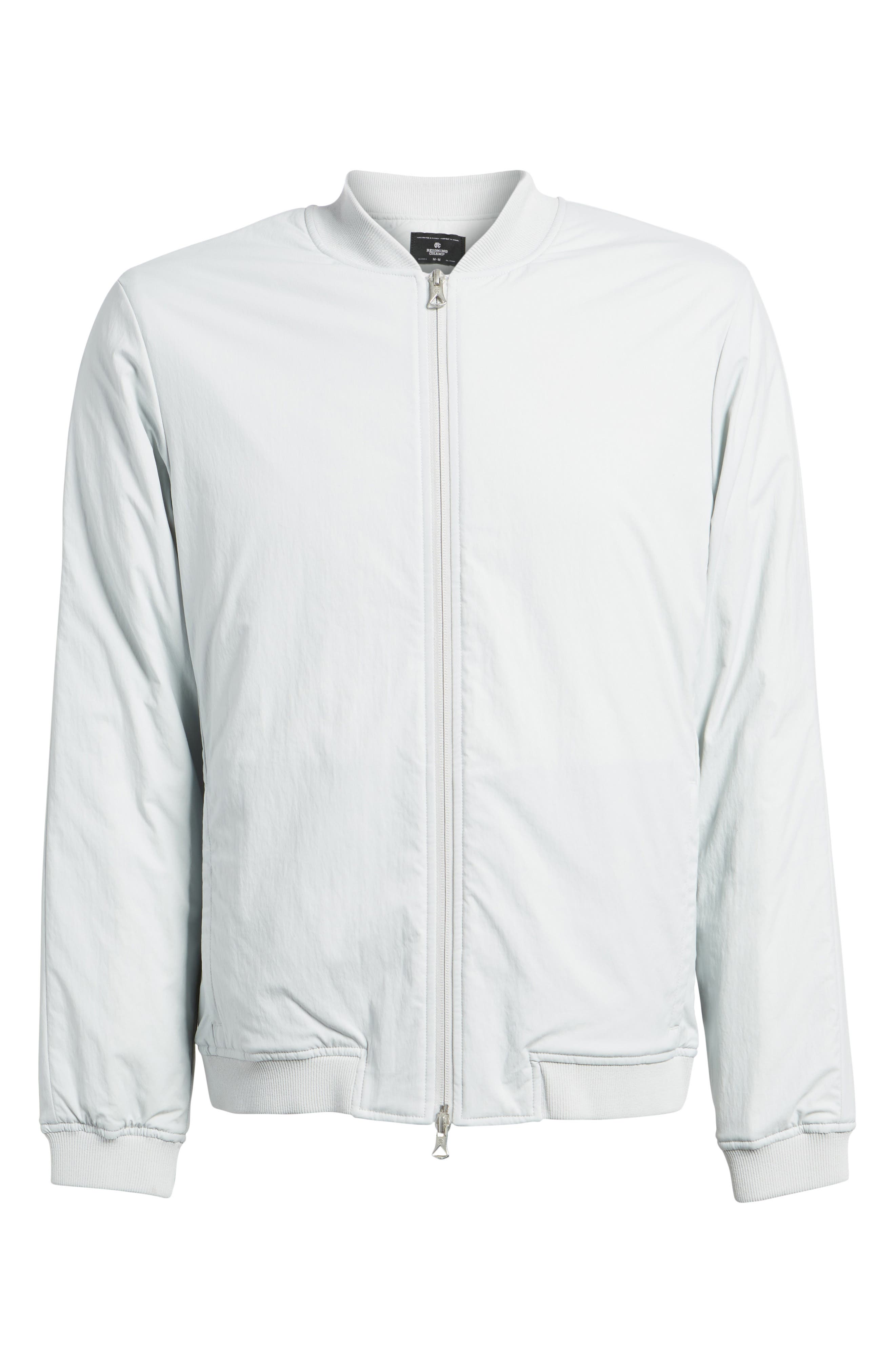 Insulated Bomber Jacket,                             Alternate thumbnail 6, color,                             Sky Grey