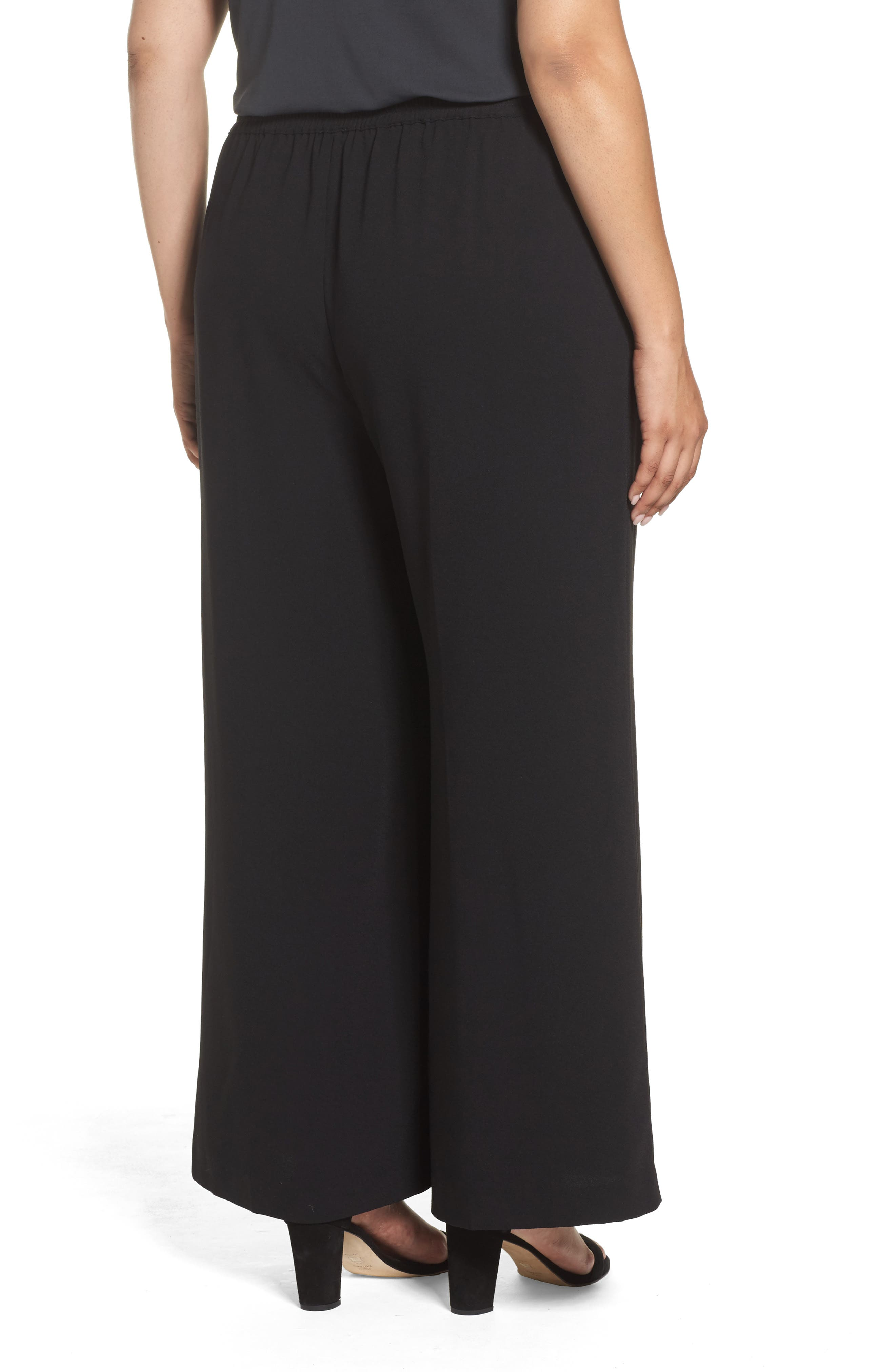 Alternate Image 2  - Vince Camuto Wide Leg Crepe Pants (Plus Size)