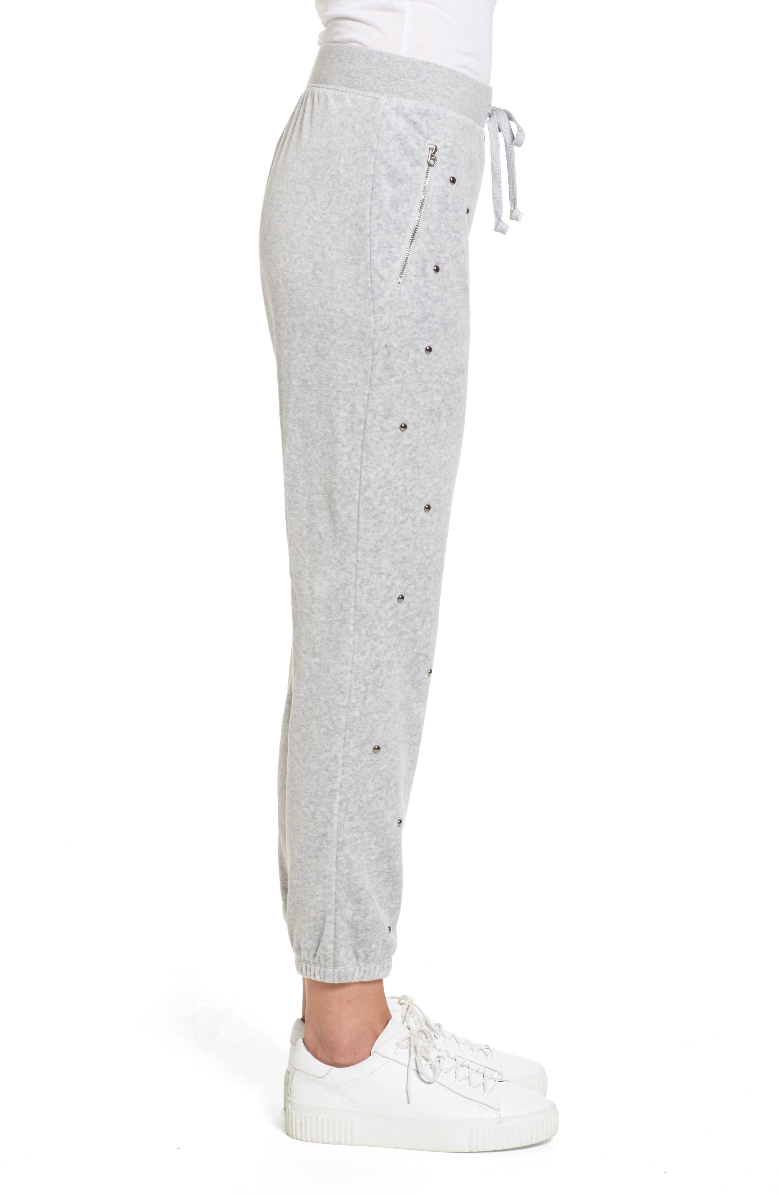 Alternate Image 3  - Juicy Couture Velour Studded Track Pants