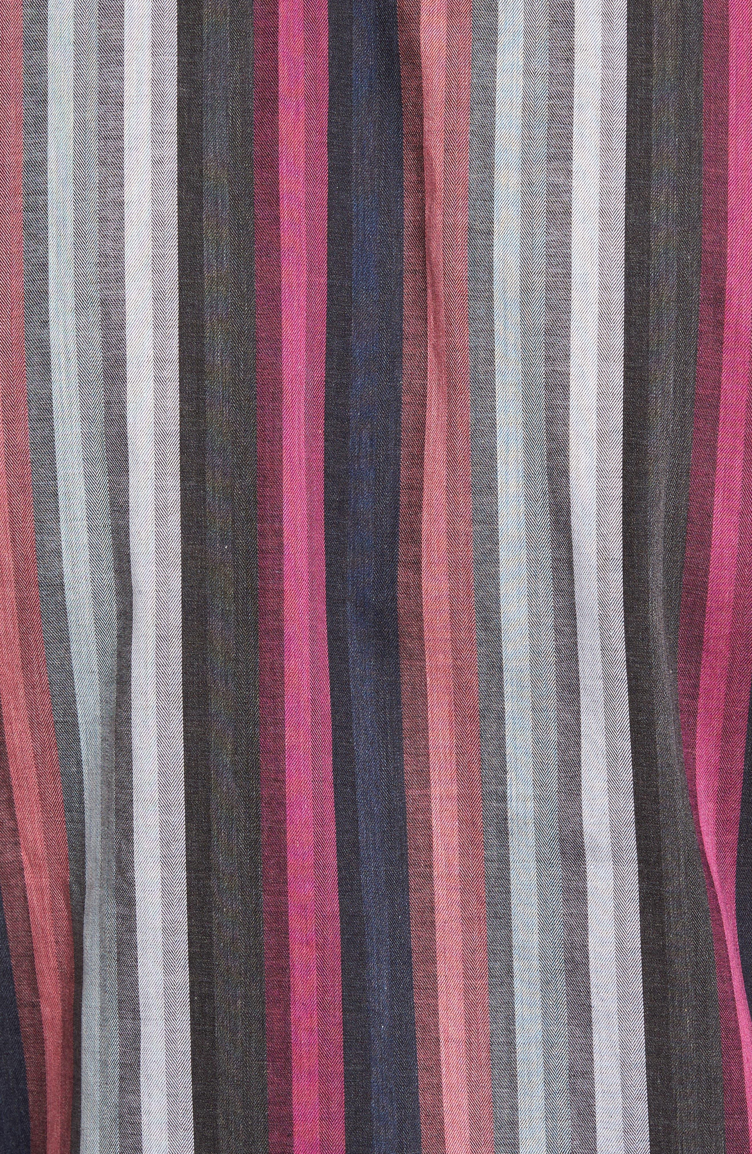 Regular Fit Multicolor Stripe Herringbone Sport Shirt,                             Alternate thumbnail 5, color,                             Pink