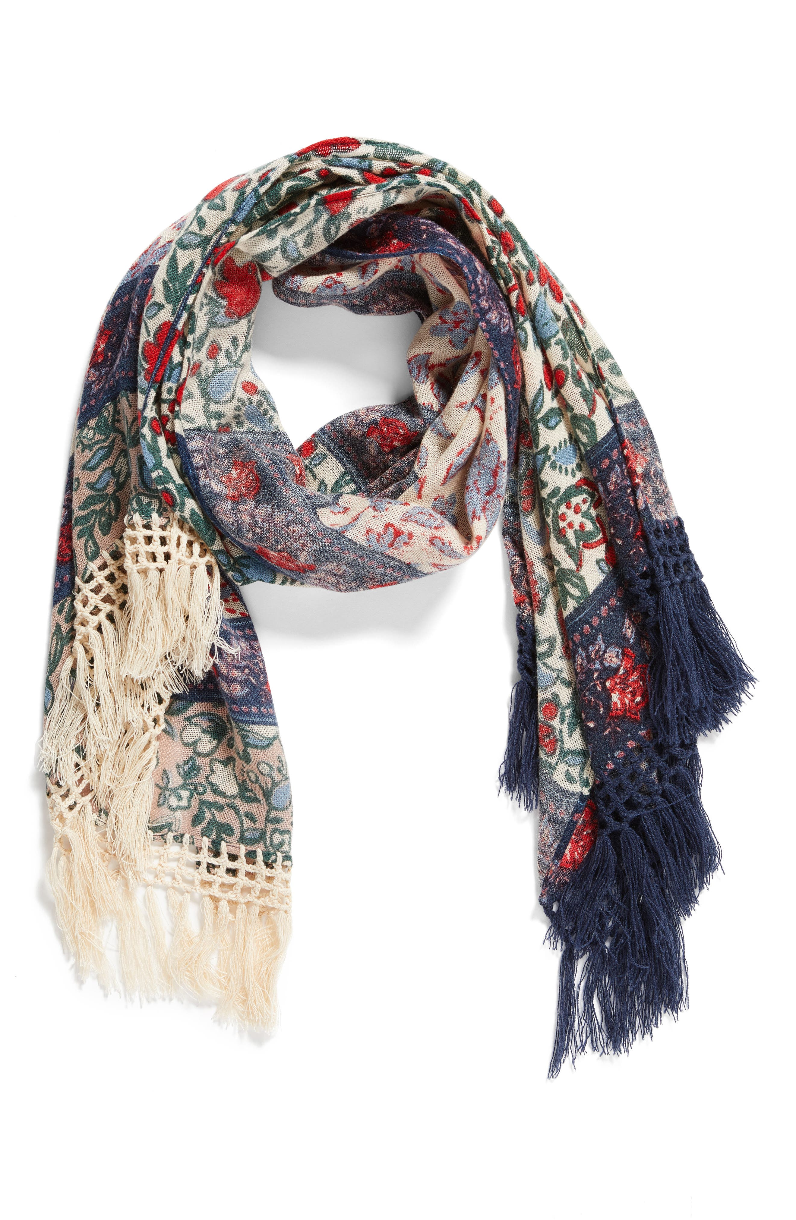 Alternate Image 2  - Treasure & Bond Poetic Landscape Fringe Scarf