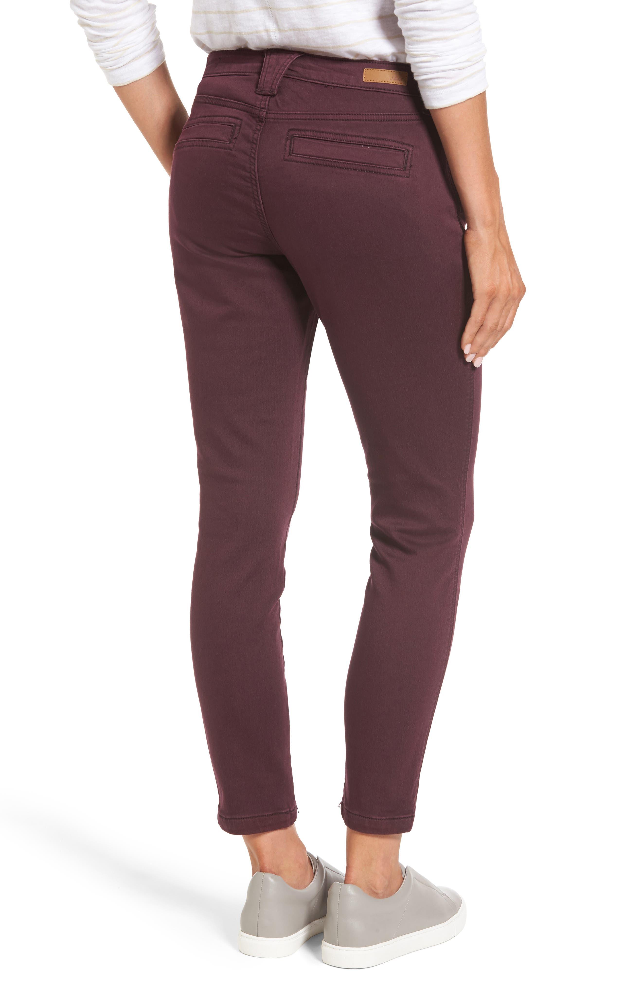 Alternate Image 2  - Jag Jeans Ryan Knit Skinny Jeans (Plum Noir)