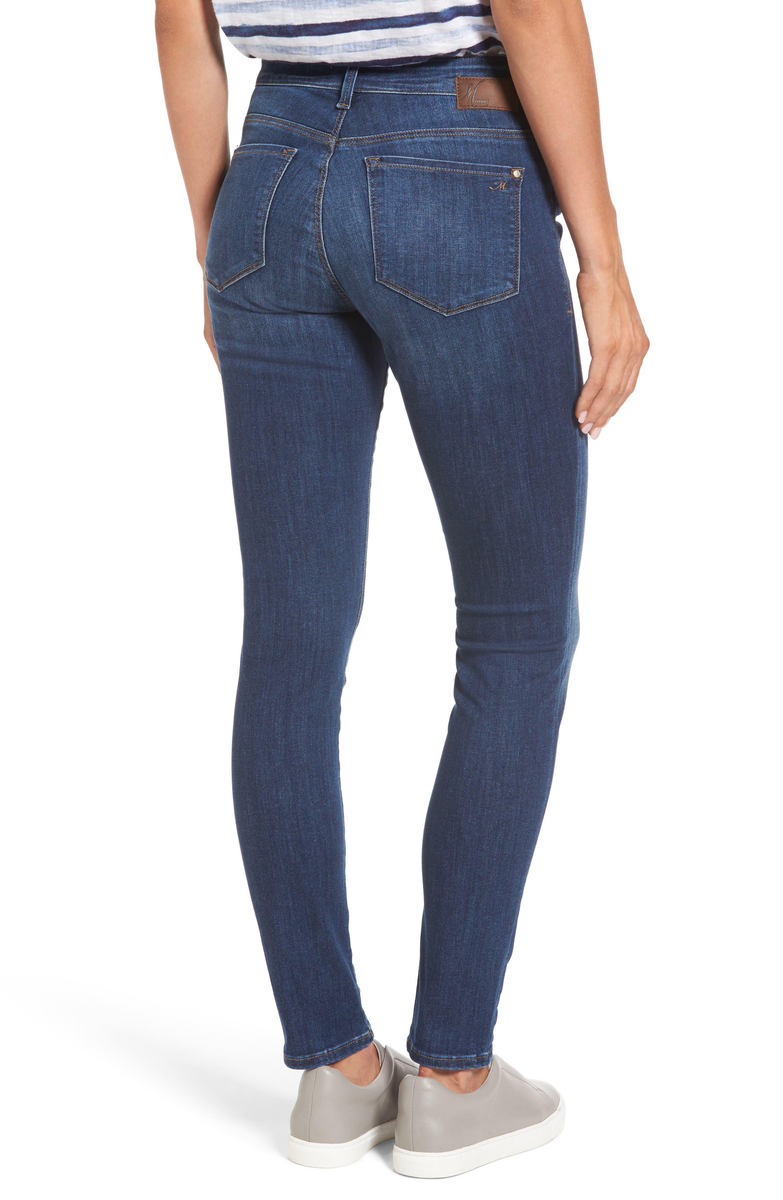 Alissa Super Skinny Jeans,                             Alternate thumbnail 2, color,                             Dark Indigo Tribeca