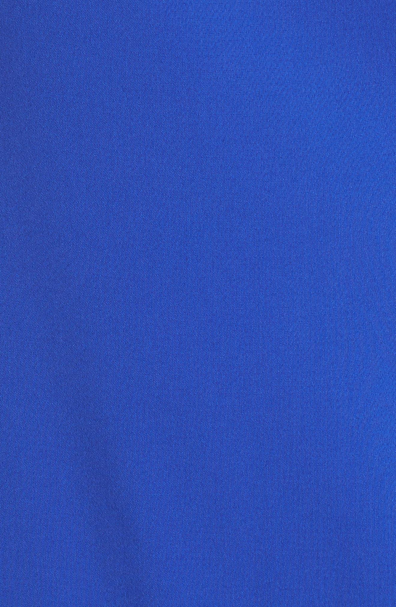 Drop Waist Dress,                             Alternate thumbnail 5, color,                             Cobalt