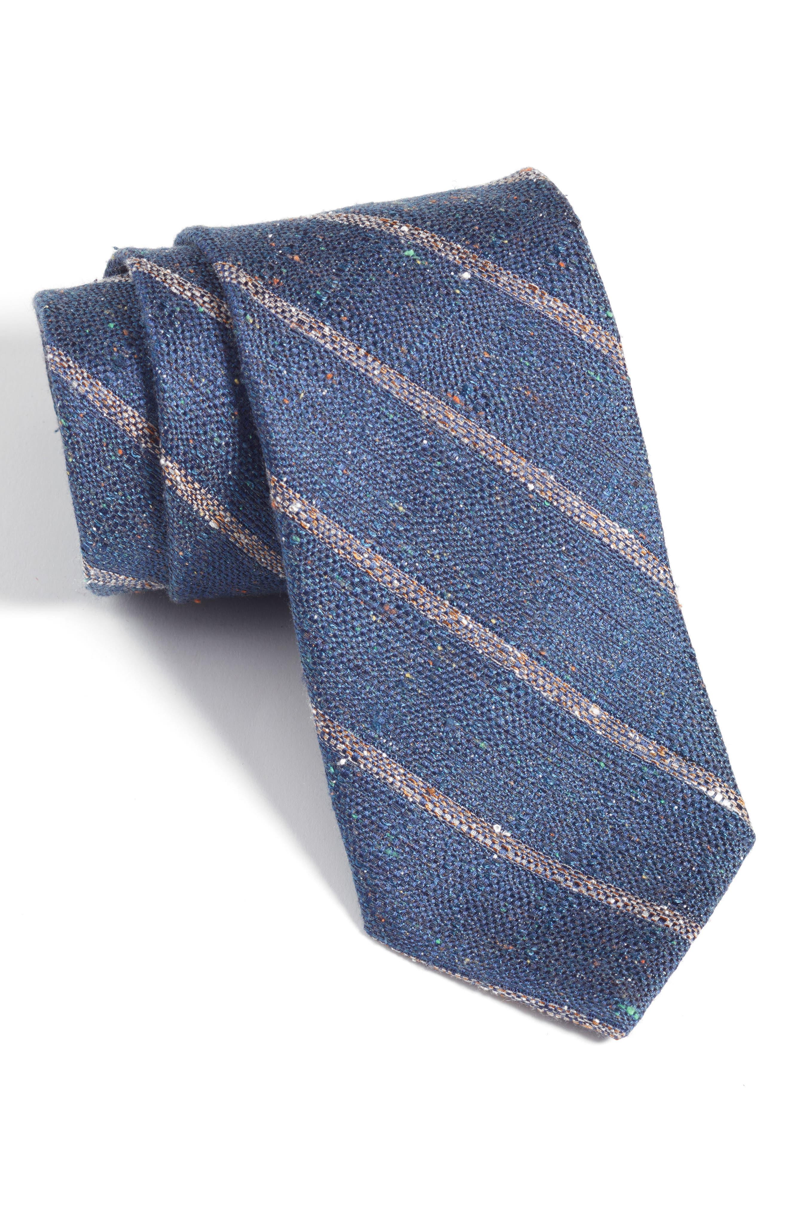 Armstrong Stripe Silk Tie,                             Main thumbnail 1, color,                             Navy