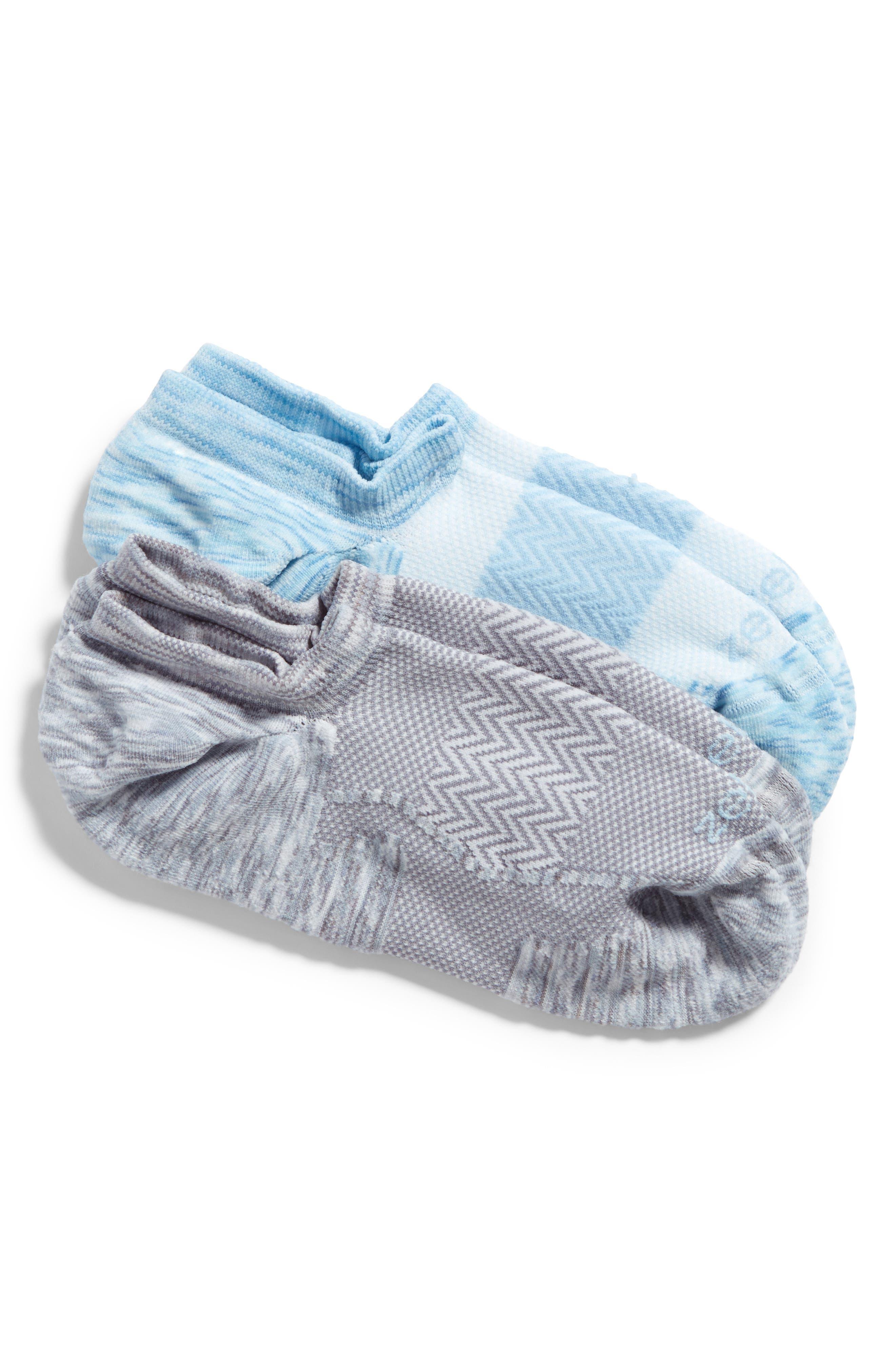2-Pack Cushioned Low-Cut Running Socks,                             Main thumbnail 1, color,                             Grey Graphite