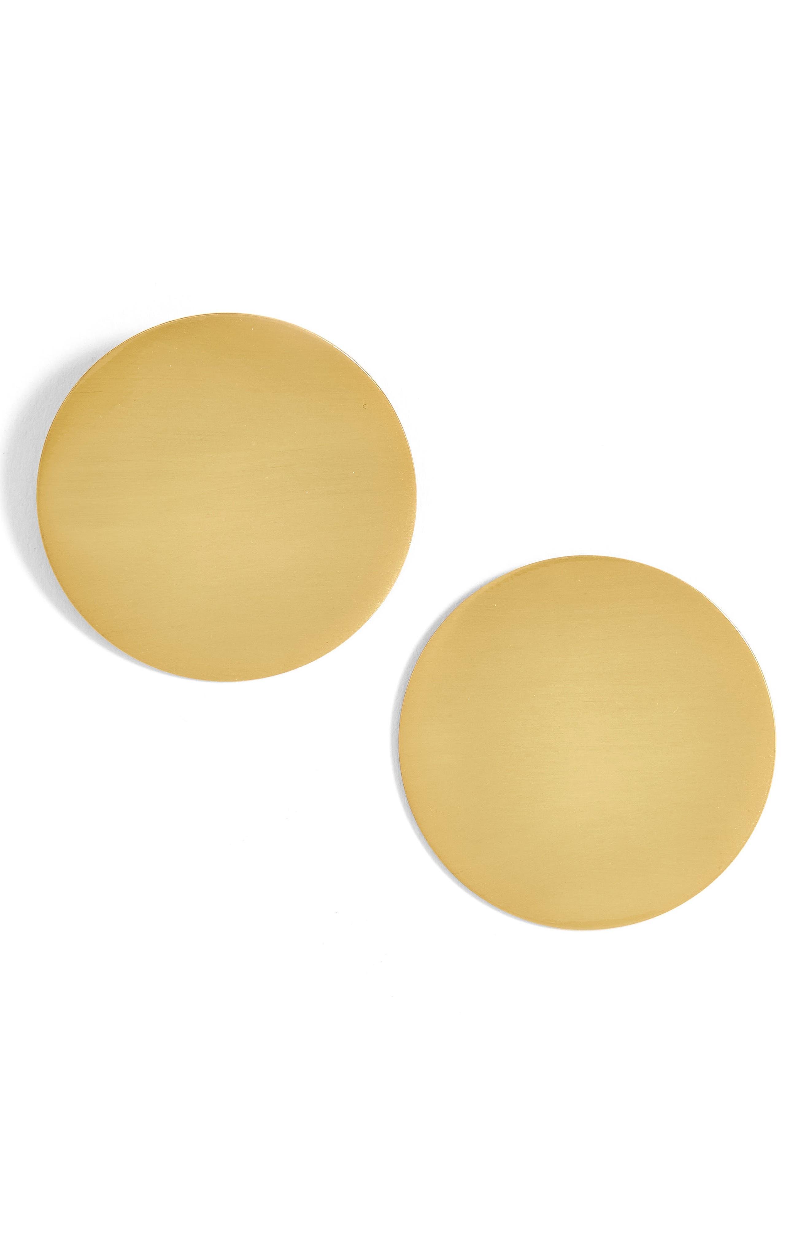Main Image - BaubleBar Cora Disk Stud Earrings