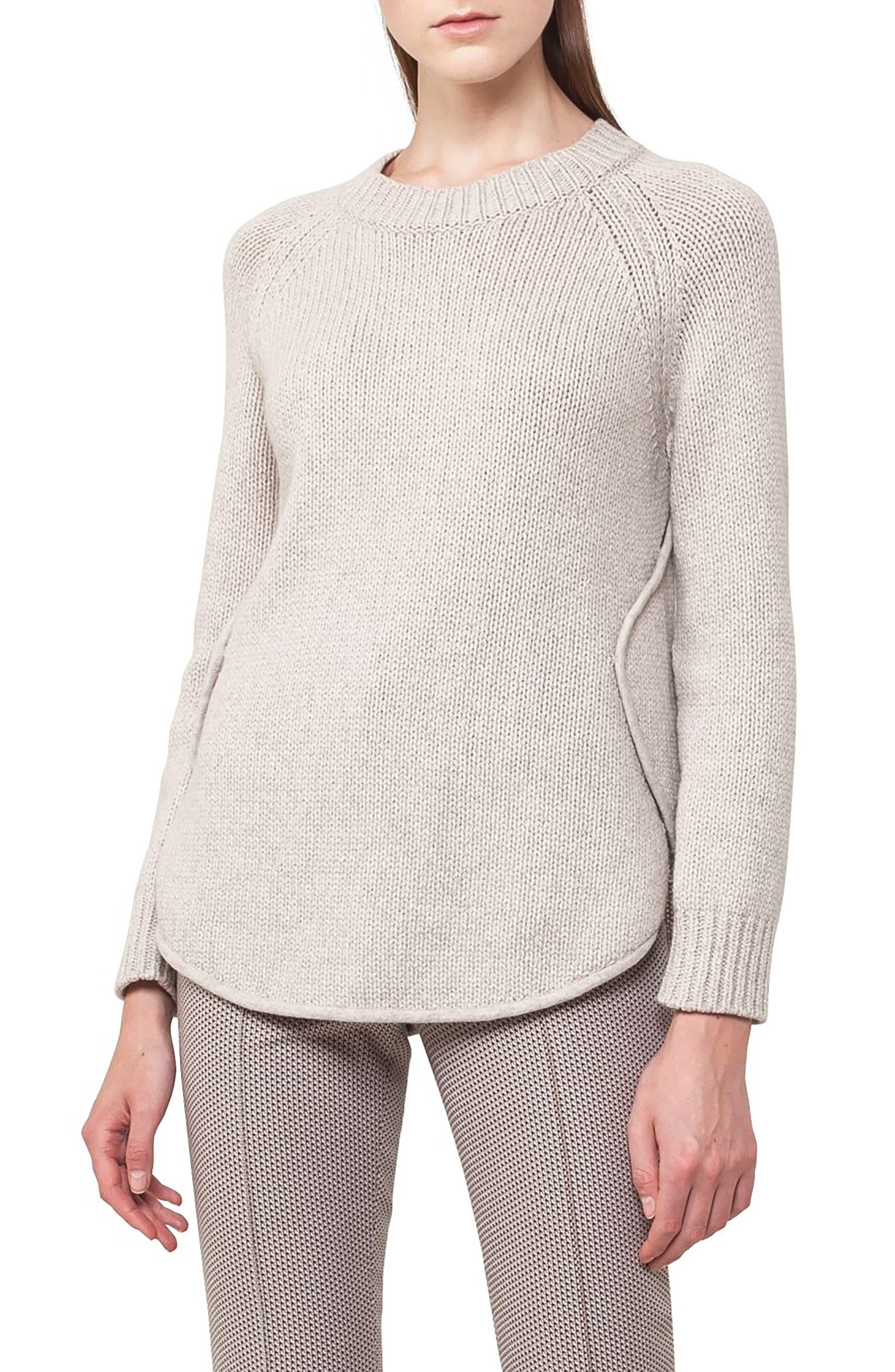 Quadrant Circle Cashmere Blend Pullover,                         Main,                         color, Taupe