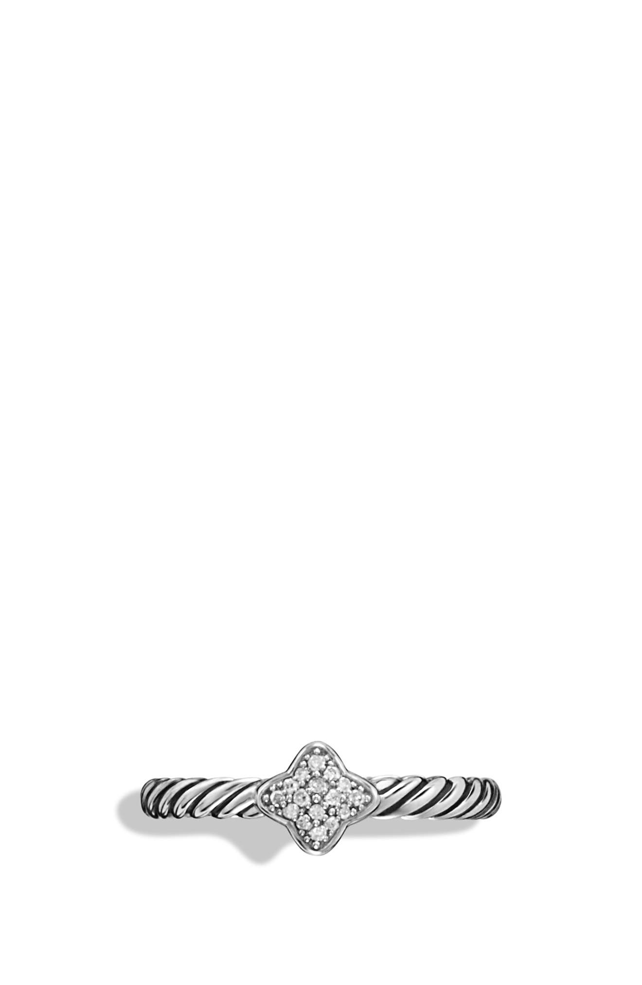 Quatrefoil Ring with Diamonds,                             Alternate thumbnail 4, color,                             Diamond