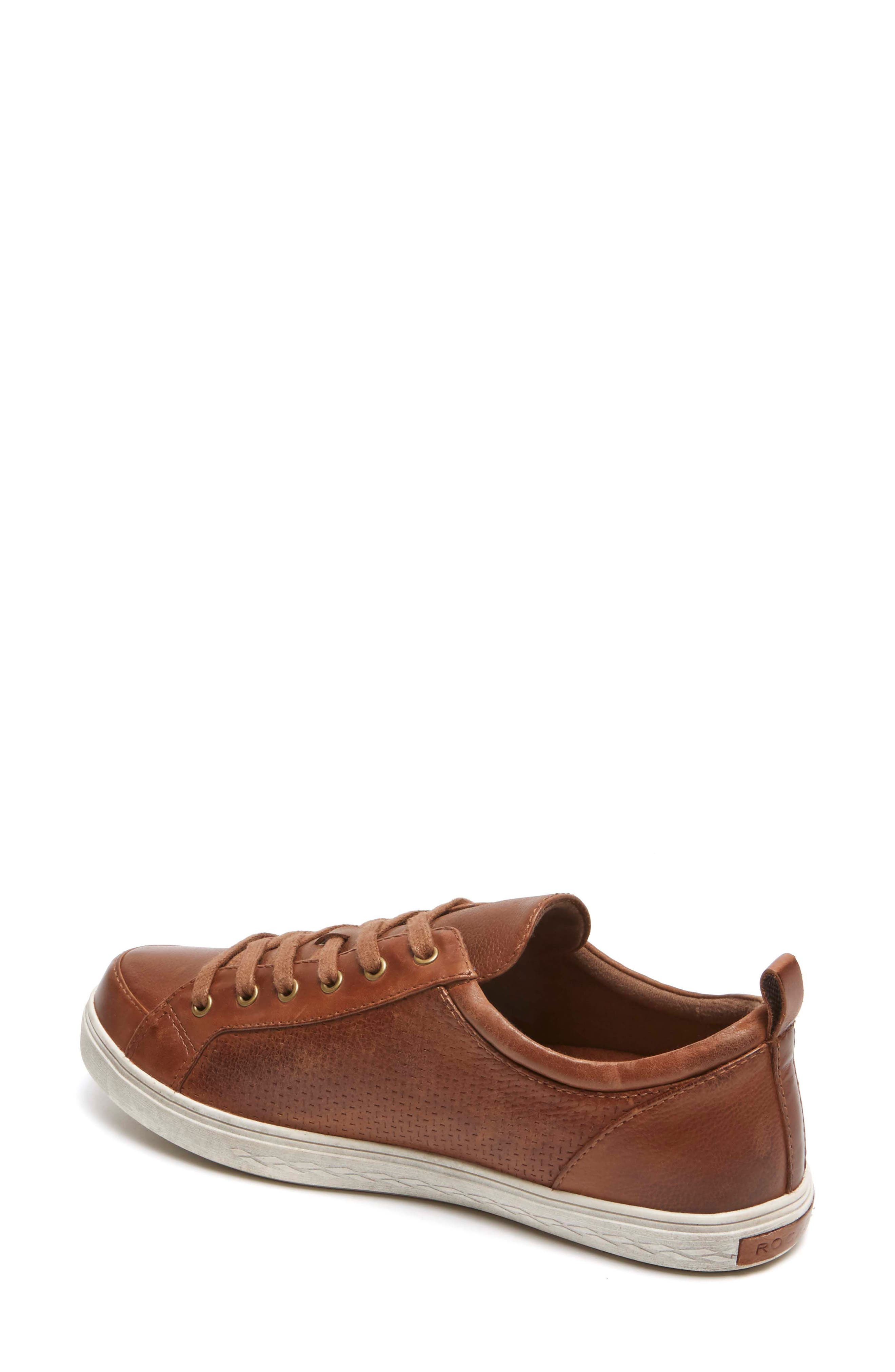 Willa Sneaker,                             Alternate thumbnail 2, color,                             Almond Leather