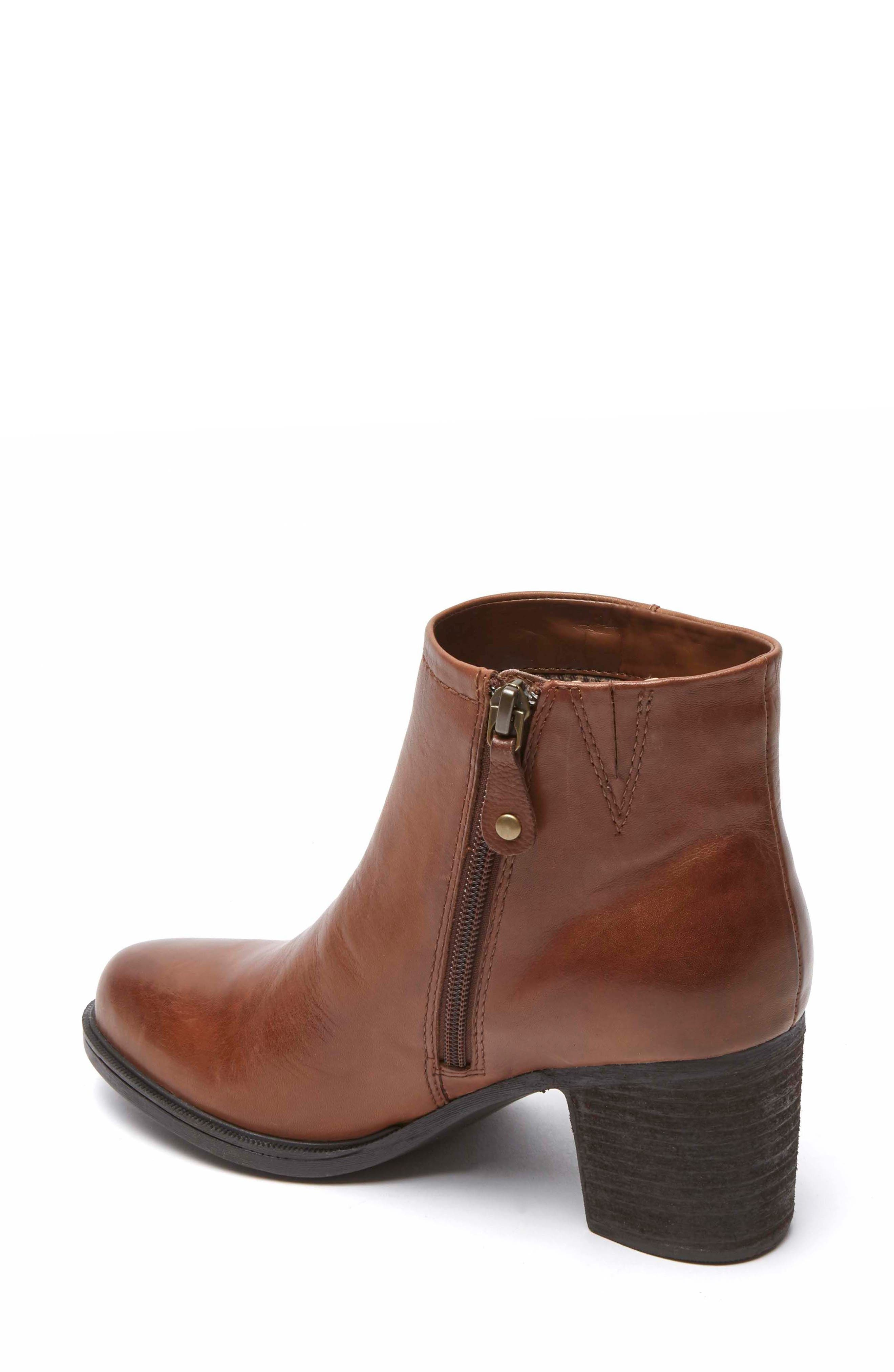 Natashya Bootie,                             Alternate thumbnail 2, color,                             Almond Leather