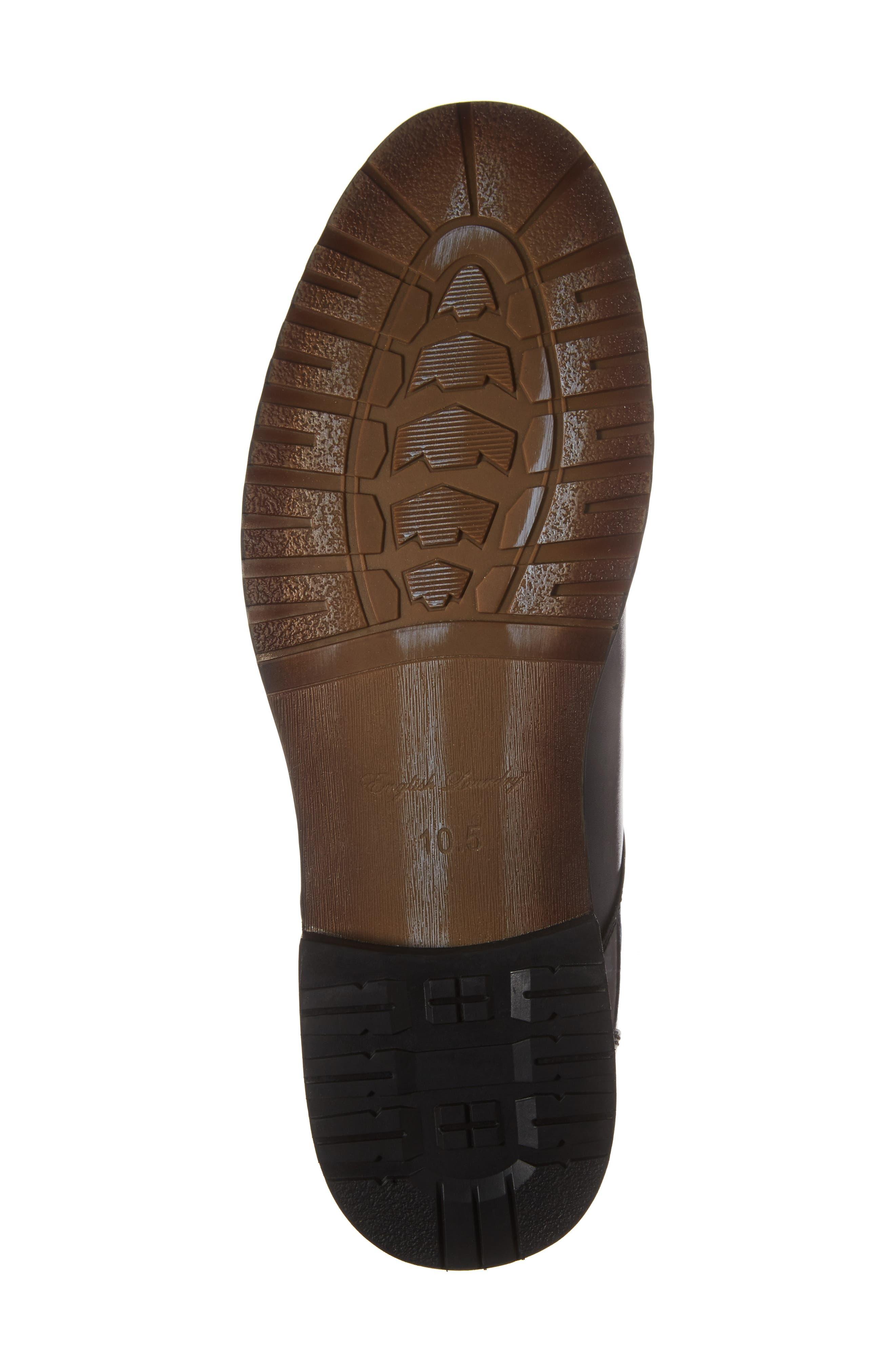 Athol Plain Toe Boot,                             Alternate thumbnail 6, color,                             Black Leather