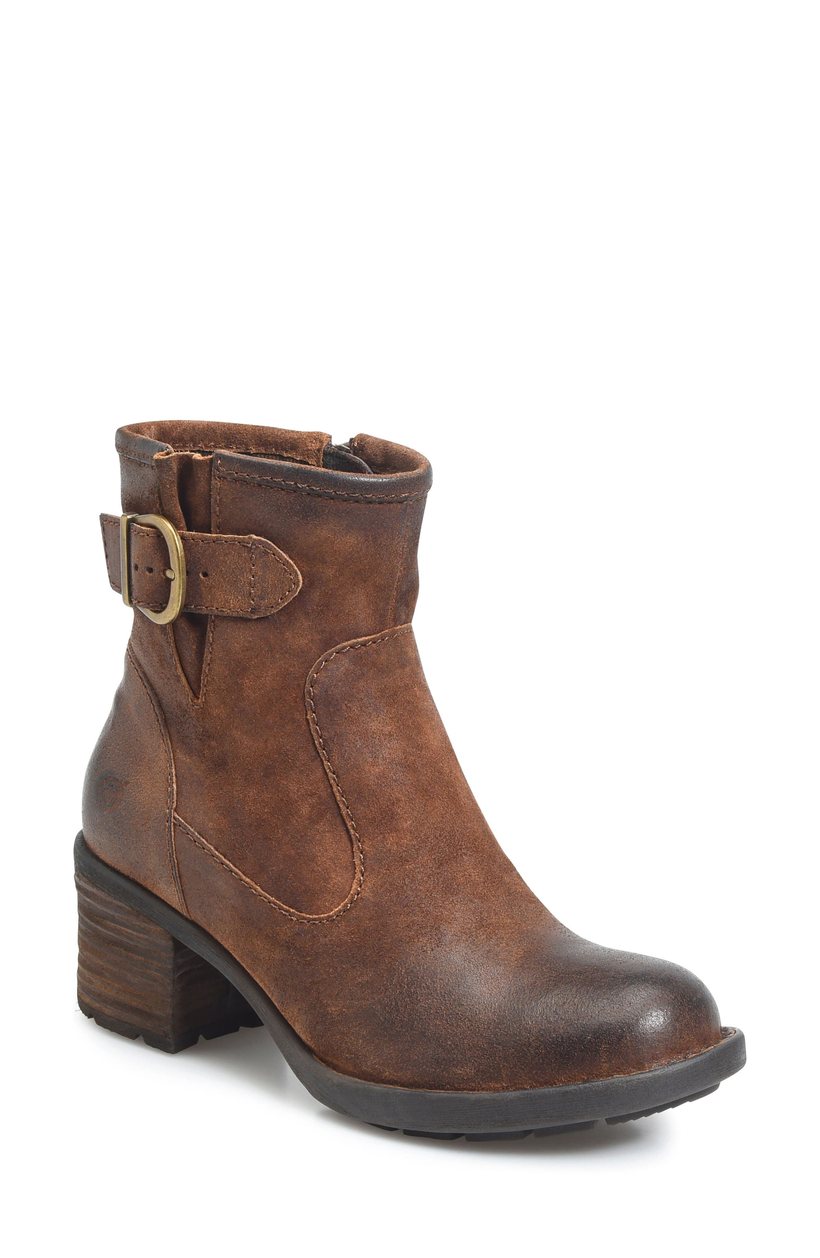 Gunn Engineer Bootie,                             Main thumbnail 1, color,                             Rust Distressed Leather
