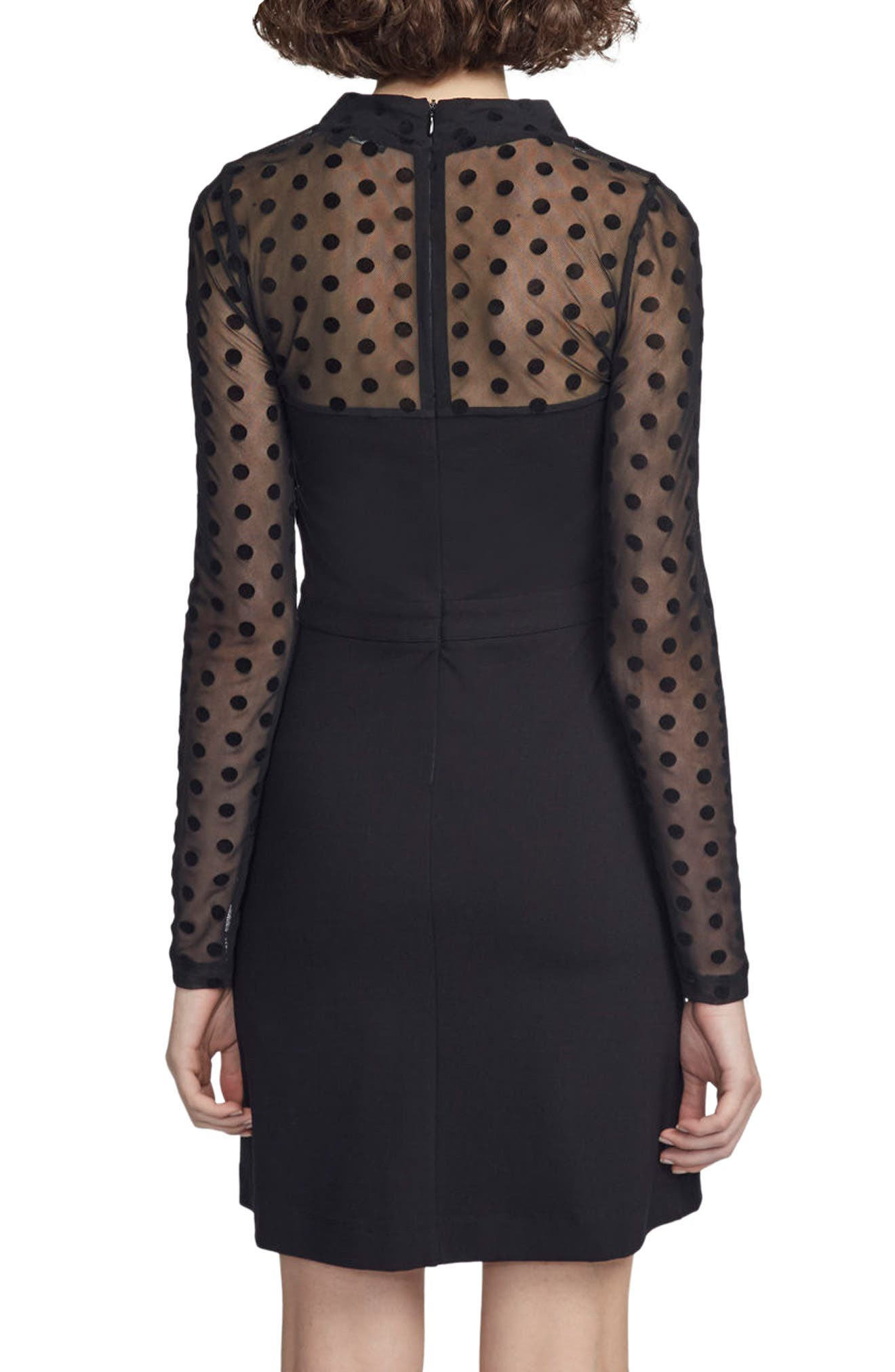 Alternate Image 2  - French Connection Mesh & Jersey Sheath Dress