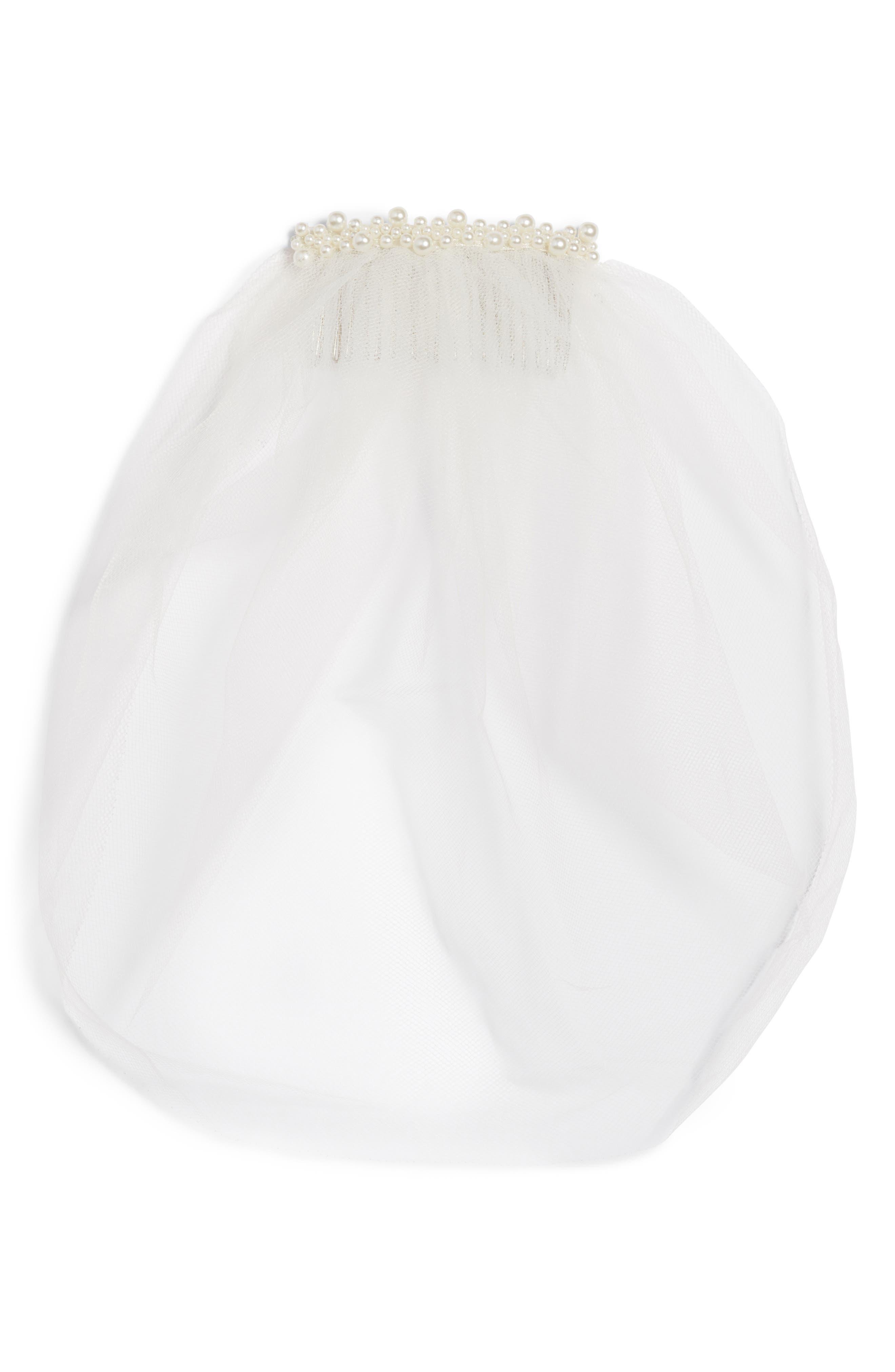 Alternate Image 2  - J-Picone Bridal Veil Hair Comb