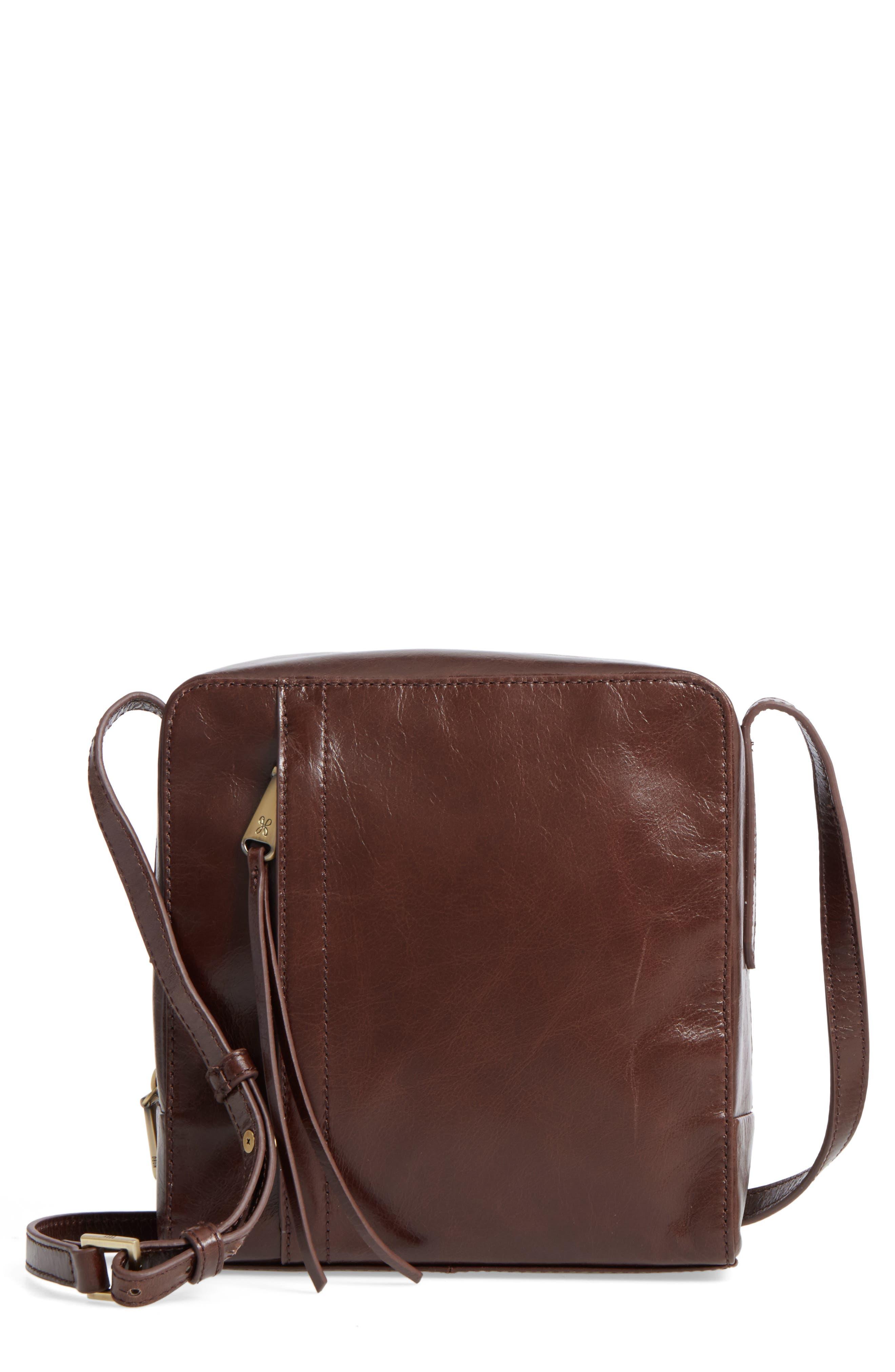 Lyric Leather Crossbody Bag,                             Main thumbnail 1, color,                             Espresso