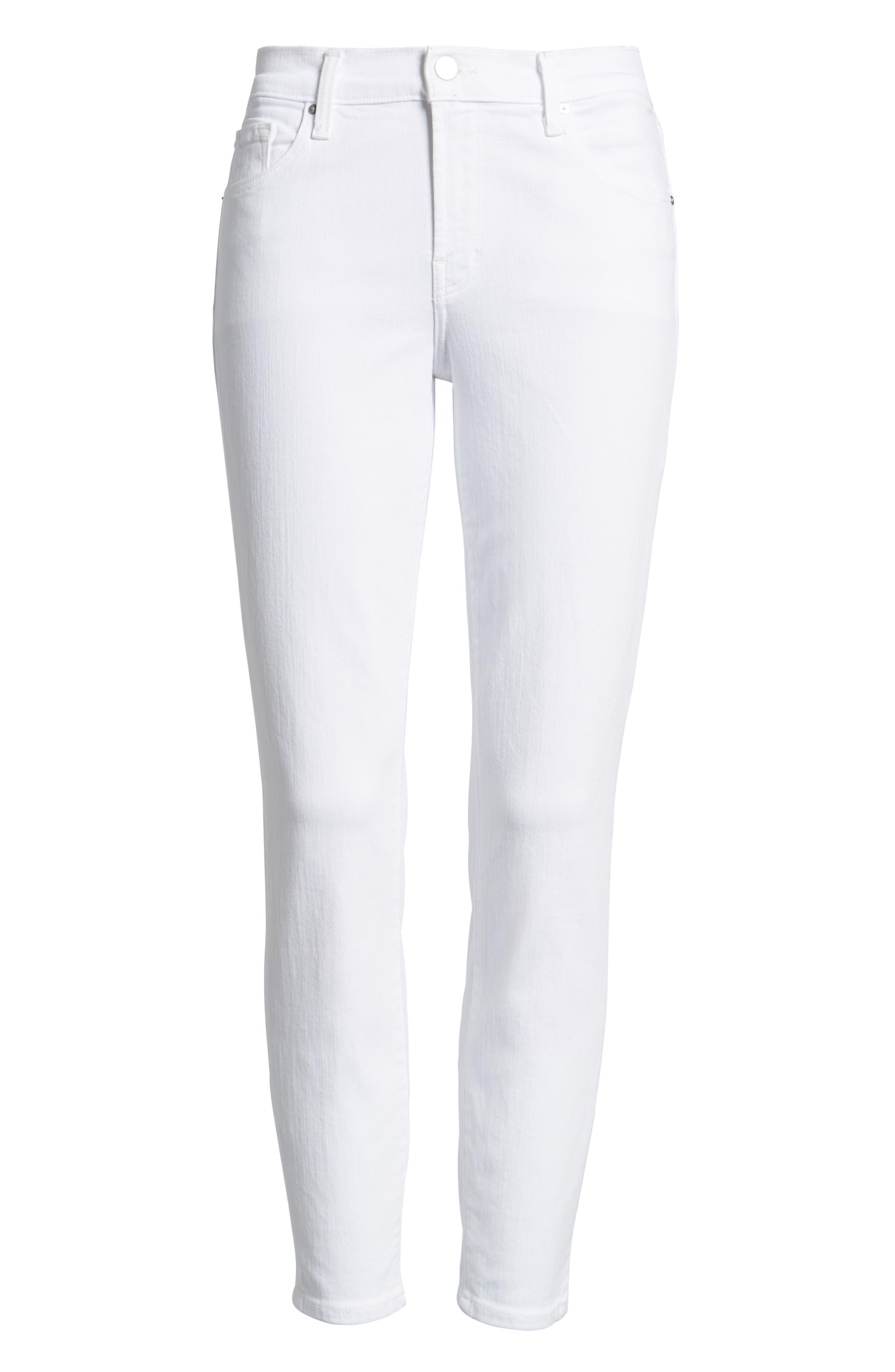 Mid-Rise Capri Skinny Jeans,                             Alternate thumbnail 7, color,                             White