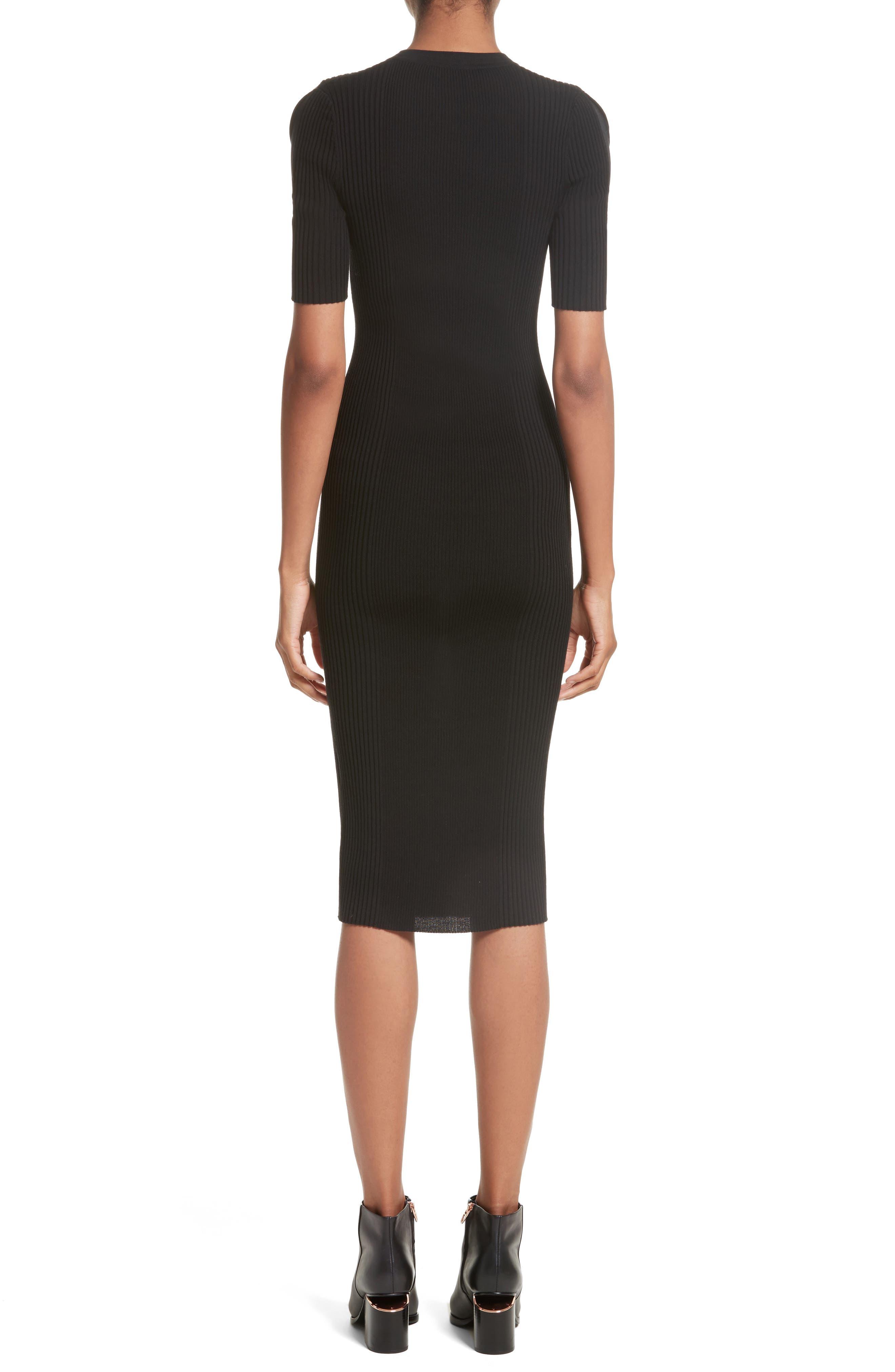 Alternate Image 2  - Alexander Wang Knit Cold Shoulder Dress