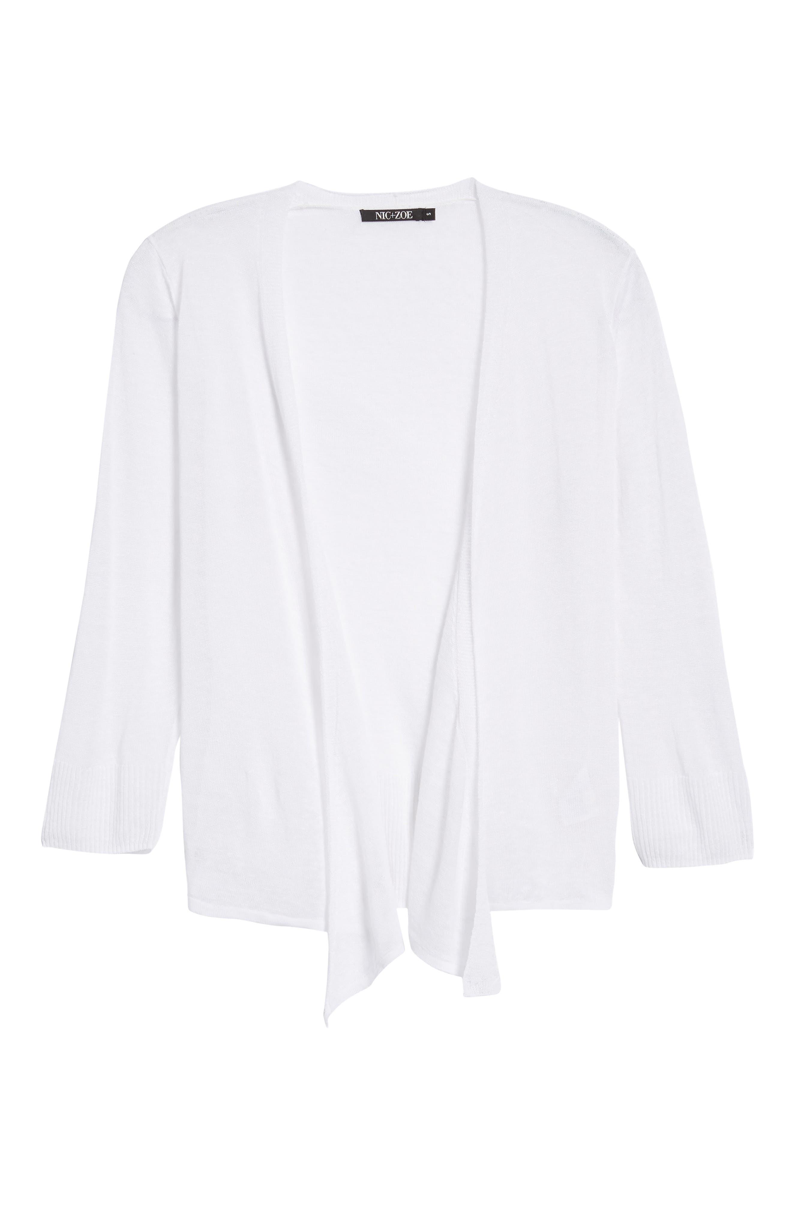 4-Way Convertible Three Quarter Sleeve Cardigan,                             Main thumbnail 1, color,                             Paper White