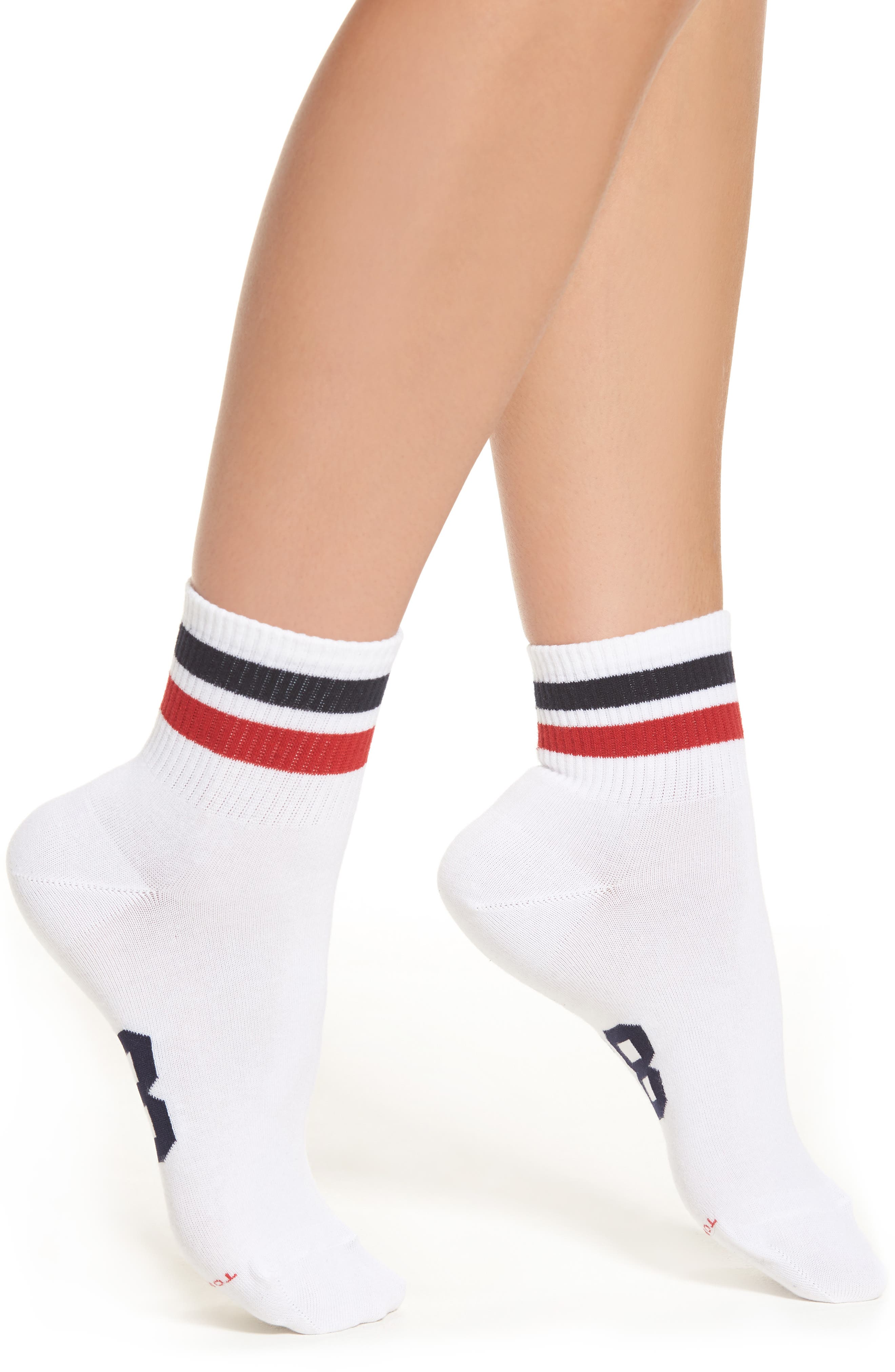 Crew Socks,                         Main,                         color, White