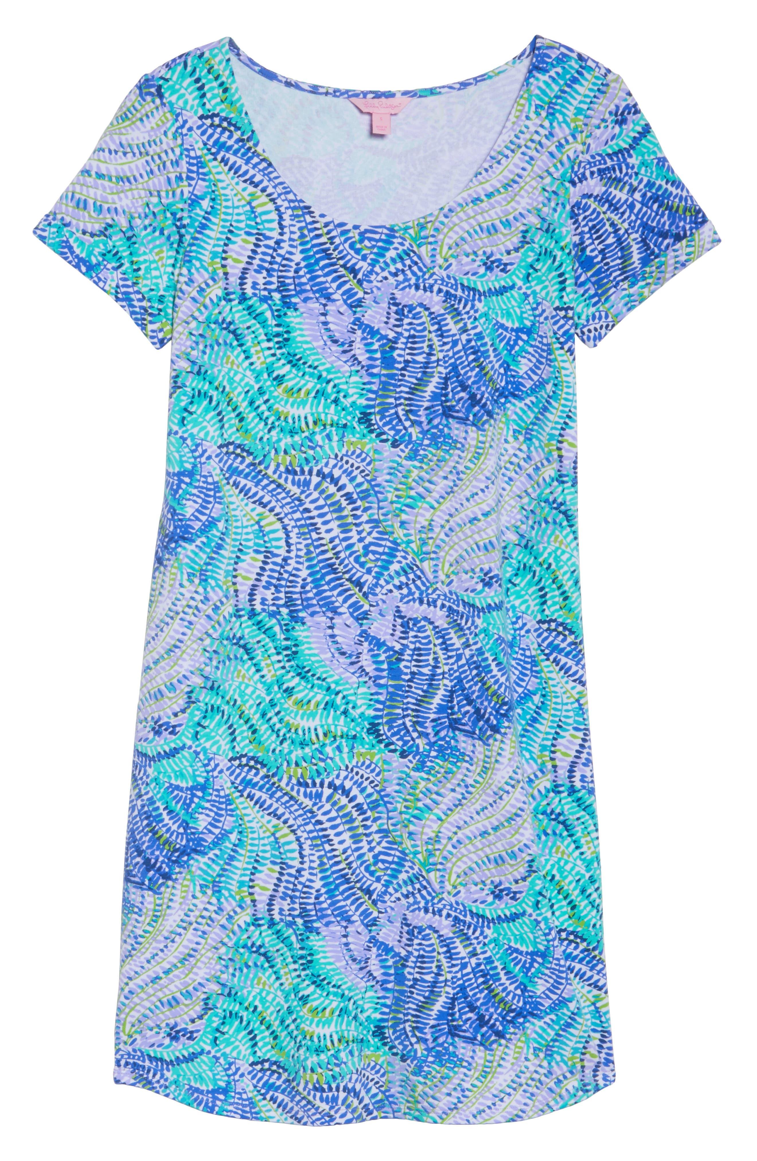 Tammy UPF 50 Dress,                             Alternate thumbnail 6, color,                             Blue Current