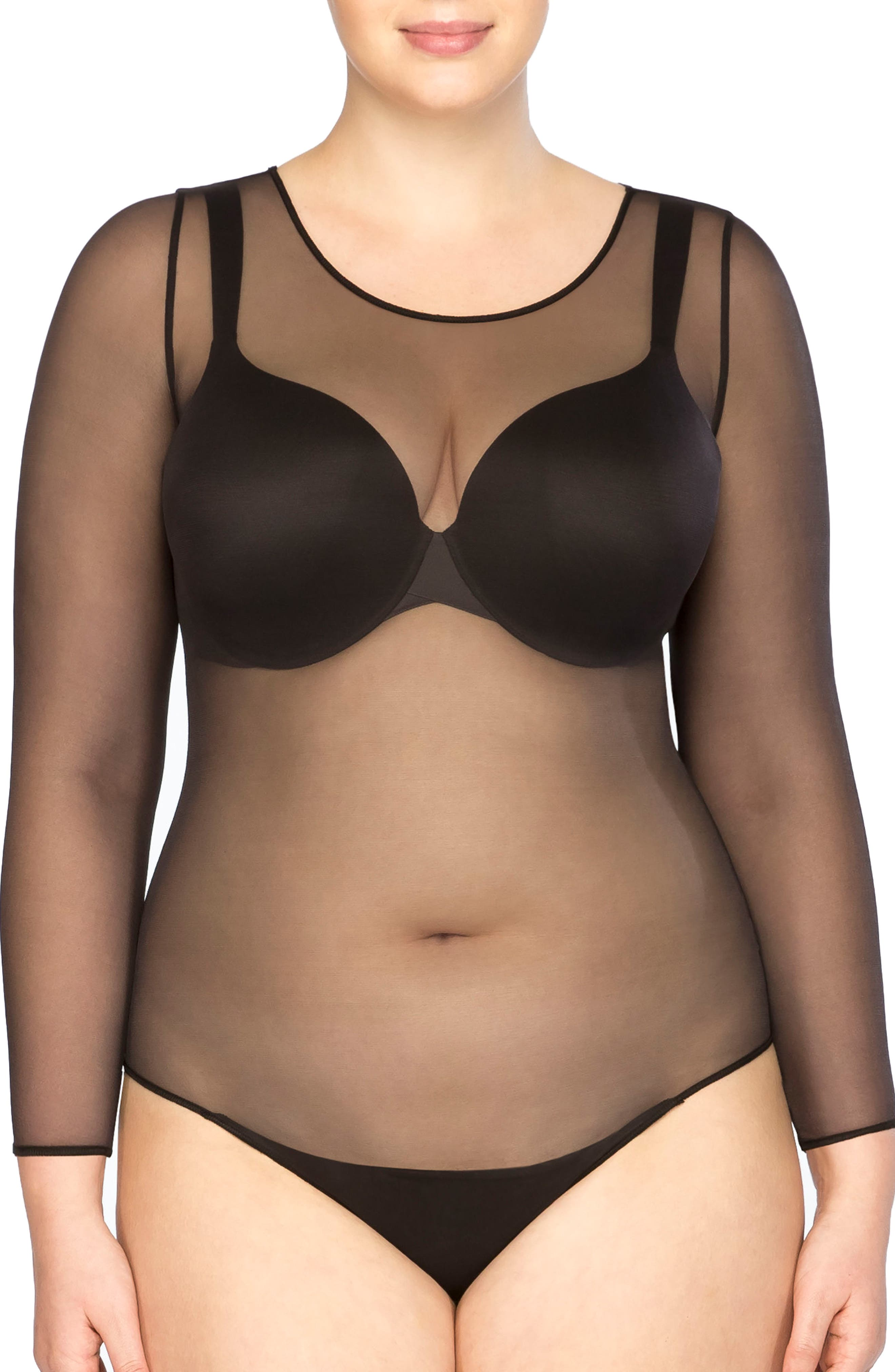 Alternate Image 1 Selected - SPANX® Thong Bodysuit (Plus Size)