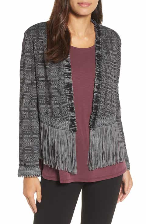 NIC+ZOE Steel Fringe Jacket (Regular & Petite)