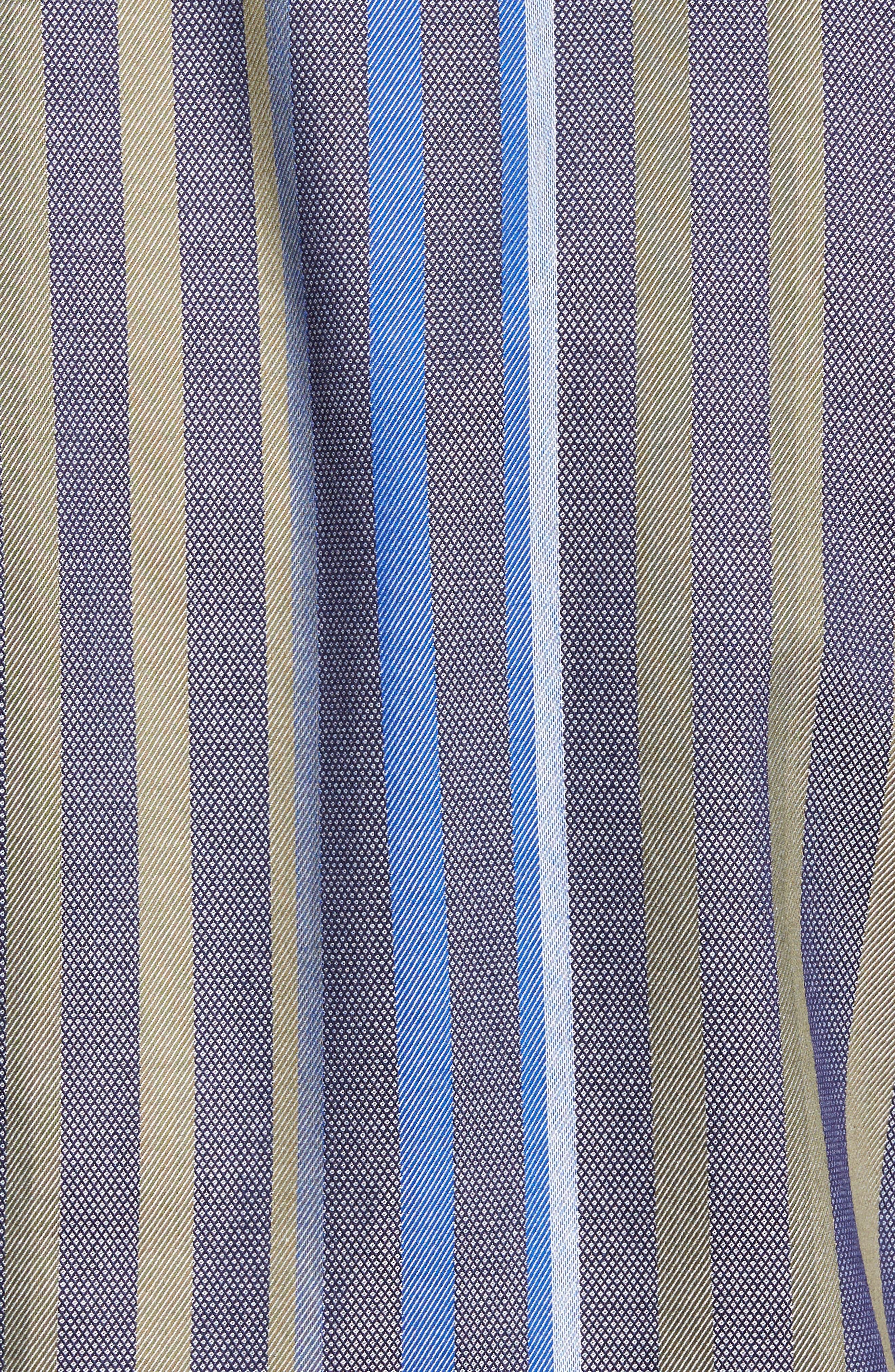 Alternate Image 5  - Thomas Dean Regular Fit Stripe Sport Shirt