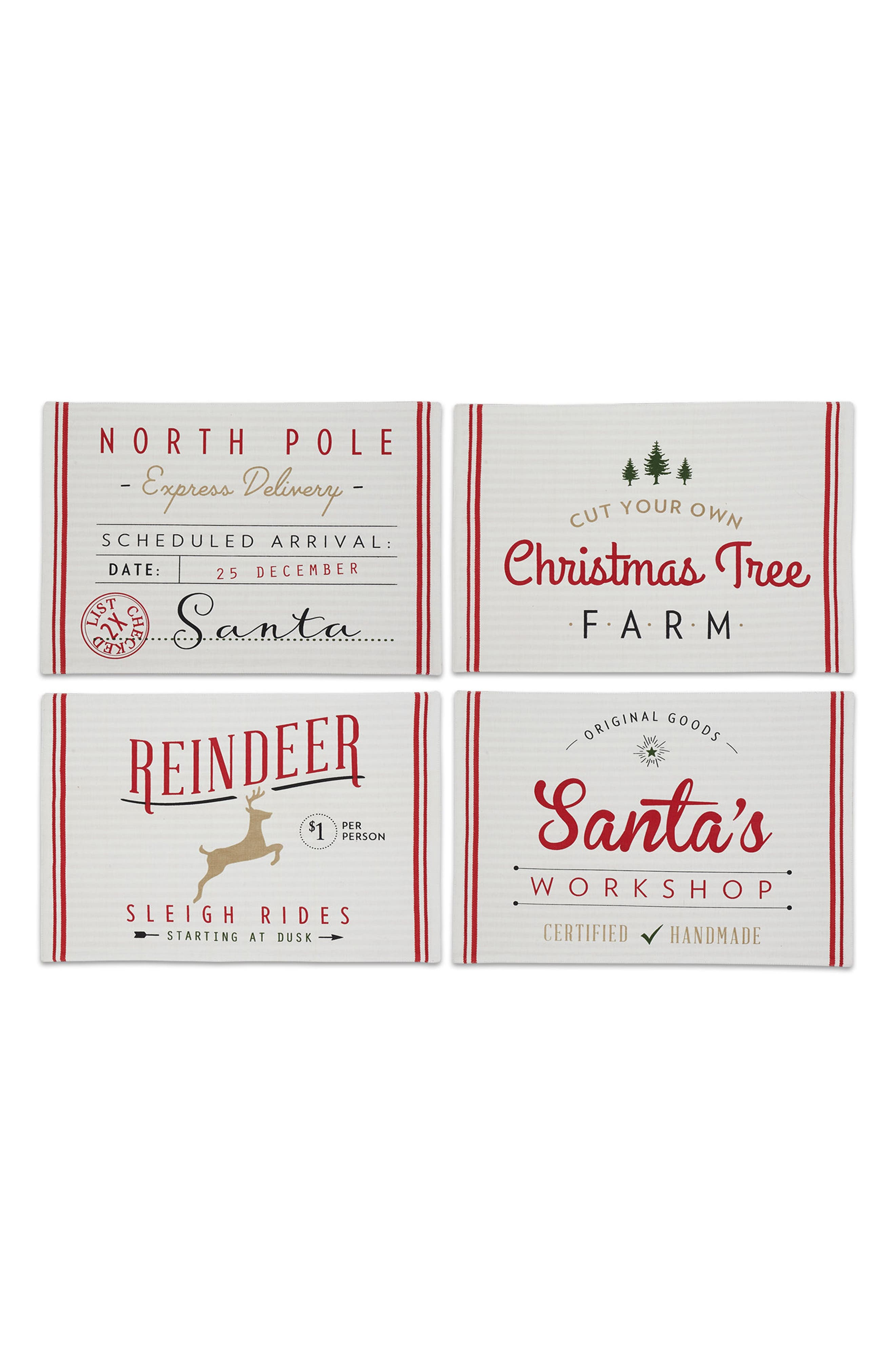 Design Imports North Pole Set of 4 Placemats