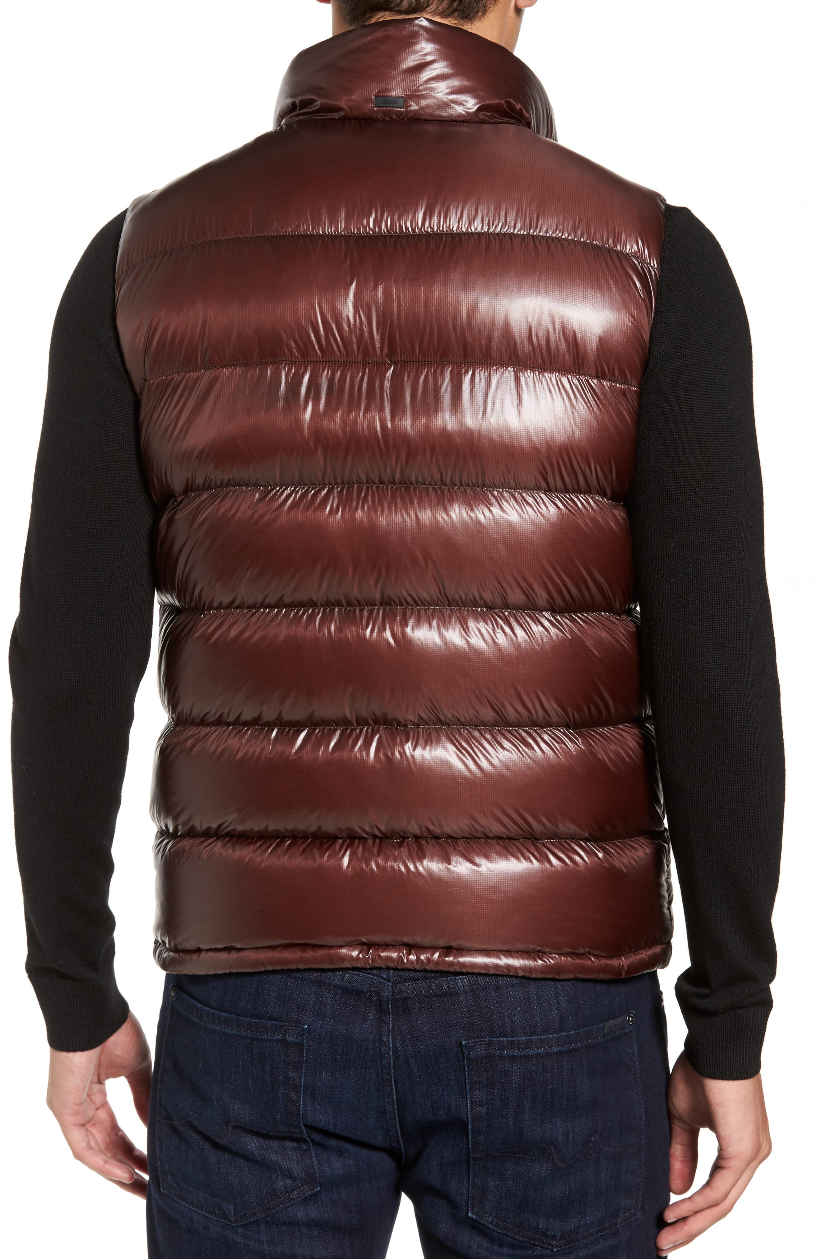 Quilted Down Vest,                             Alternate thumbnail 2, color,                             Cordovan