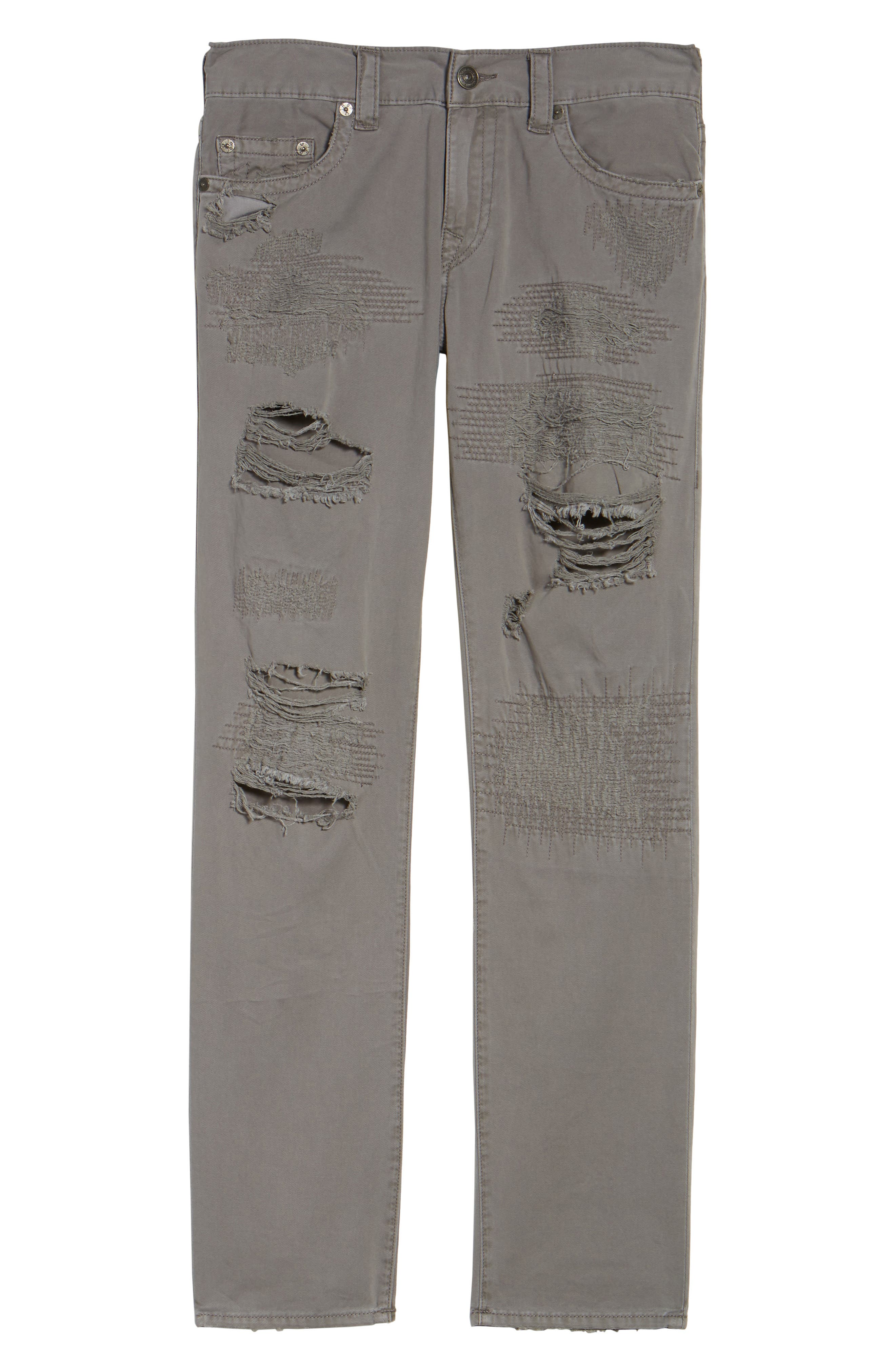 Geno Straight Fit Jeans,                             Alternate thumbnail 6, color,                             Steel Grey