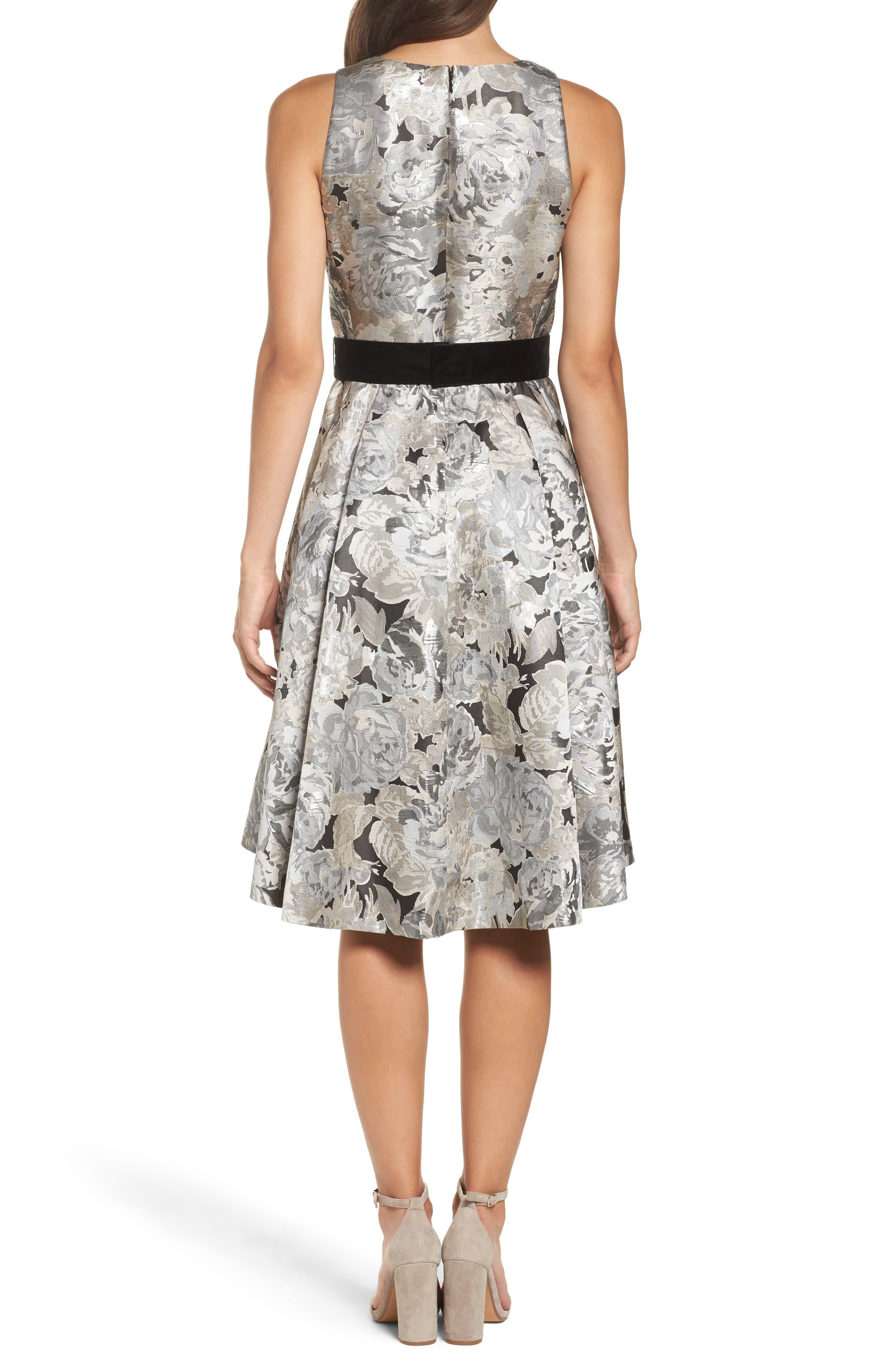 Alternate Image 2  - Eliza J Jacquard High/Low Dress (Regular & Petite)