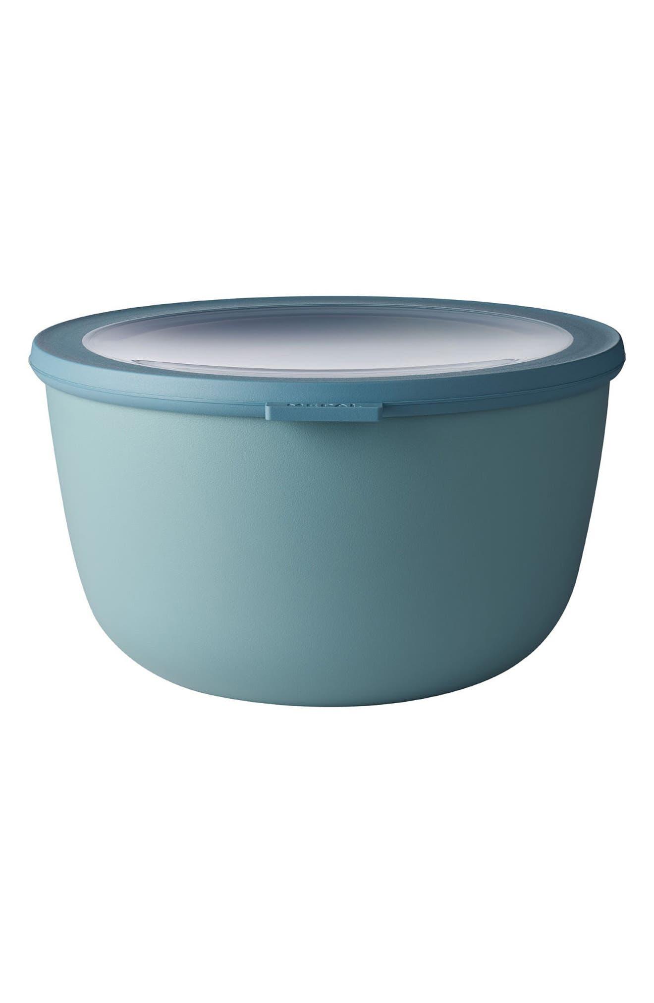 Cirqula Set of 4 Storage Bowls,                             Alternate thumbnail 4, color,                             Blue
