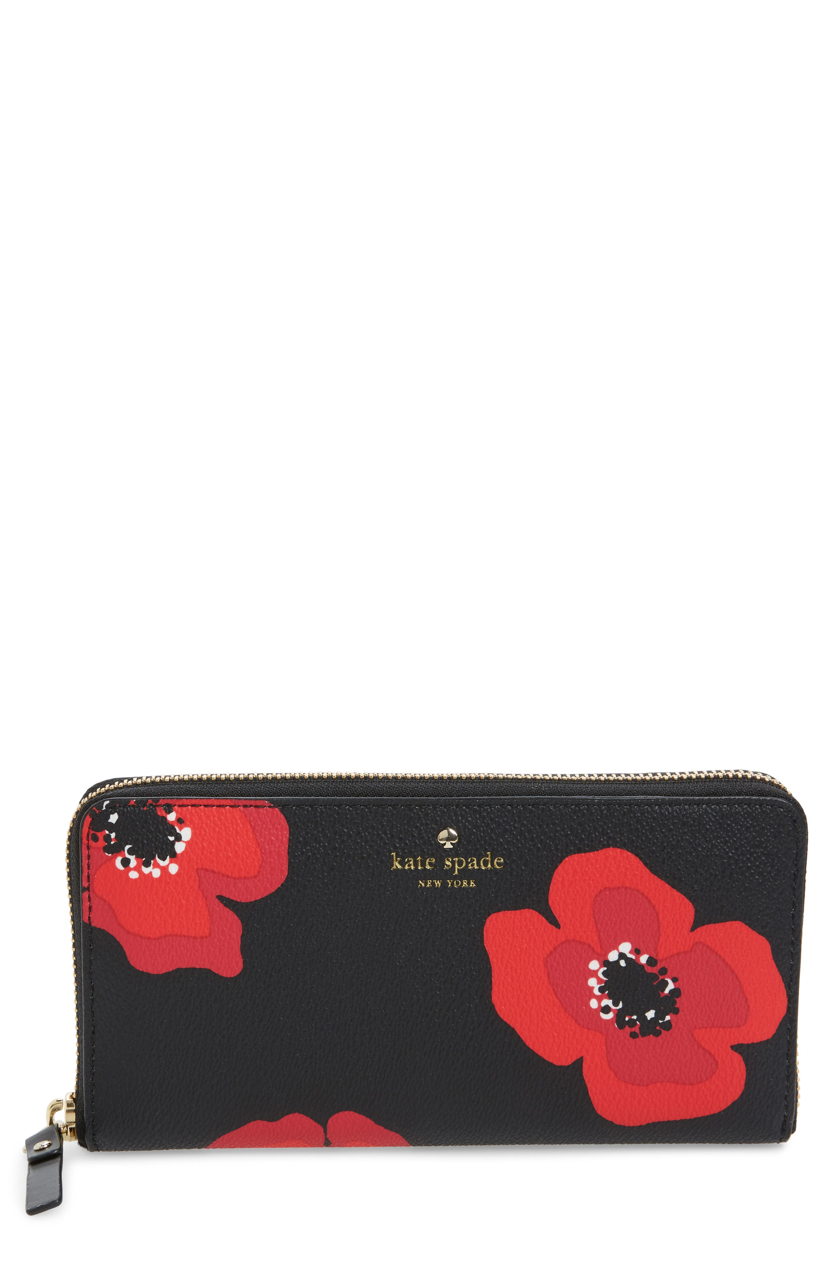 Alternate Image 1 Selected - kate spade new york hyde lane poppy michele leather wallet