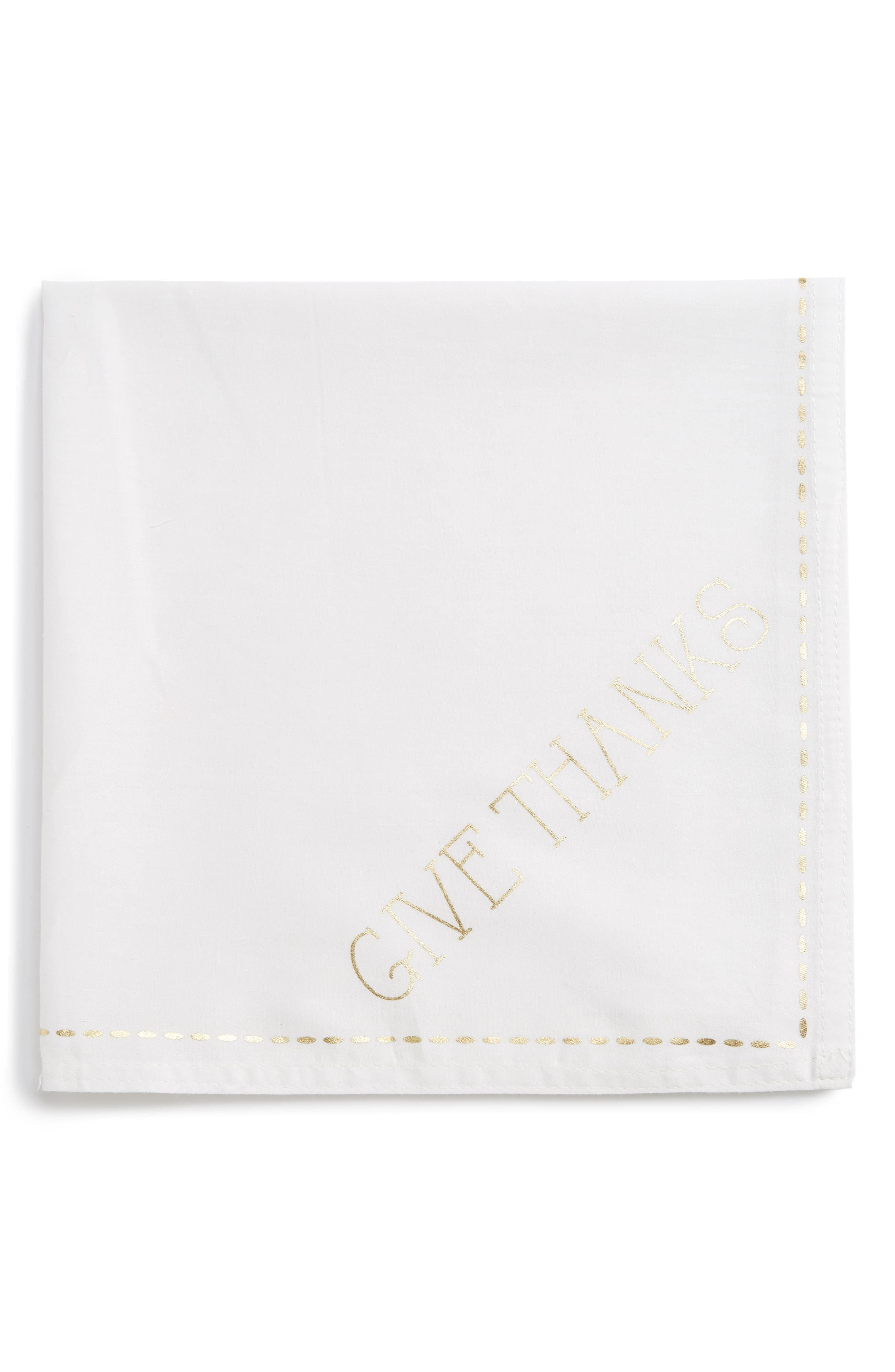 Give Thanks Napkin,                         Main,                         color, Ivory