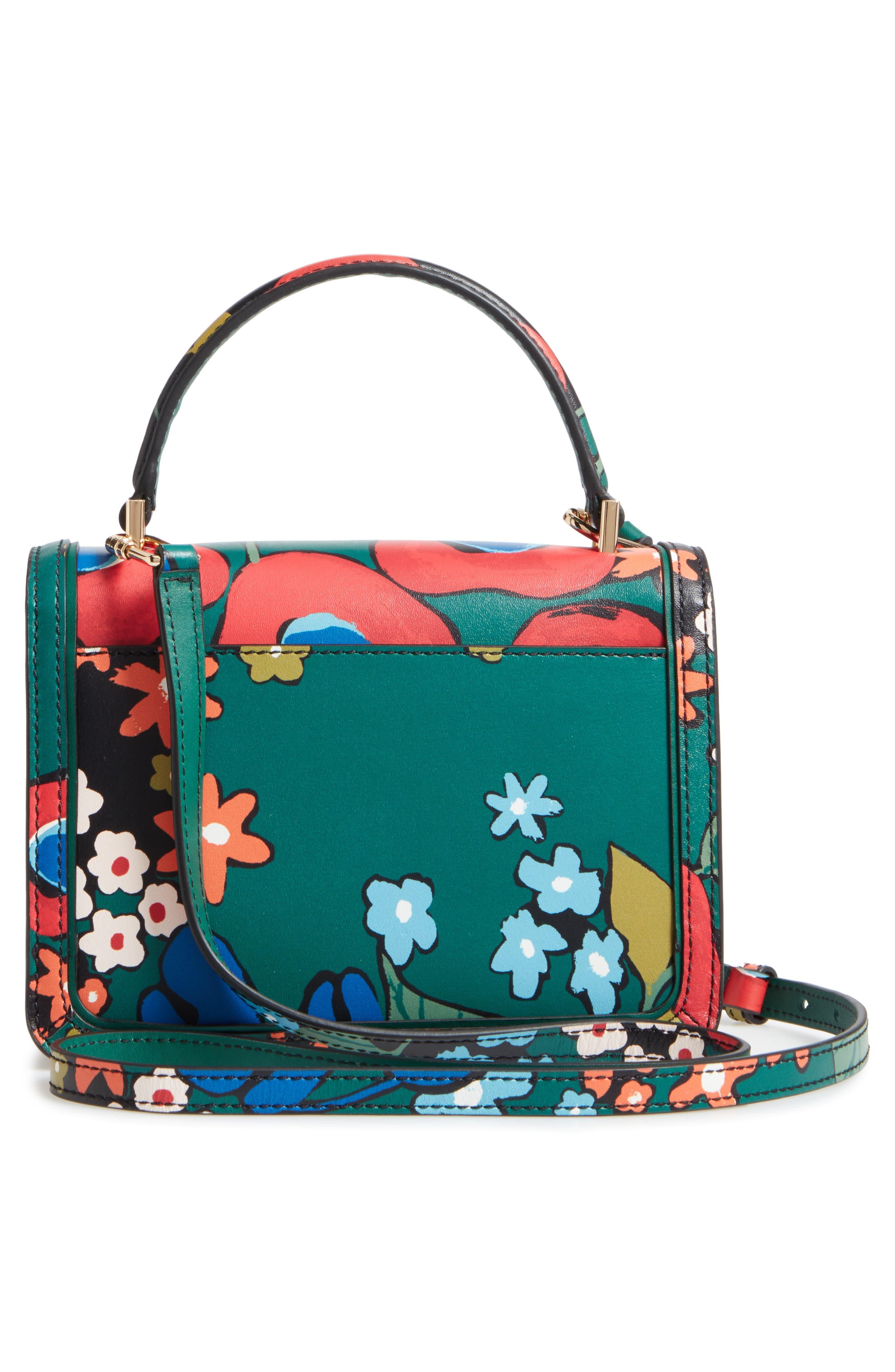 Mini Juliette Leather Top Handle Satchel,                             Alternate thumbnail 2, color,                             Darling Floral