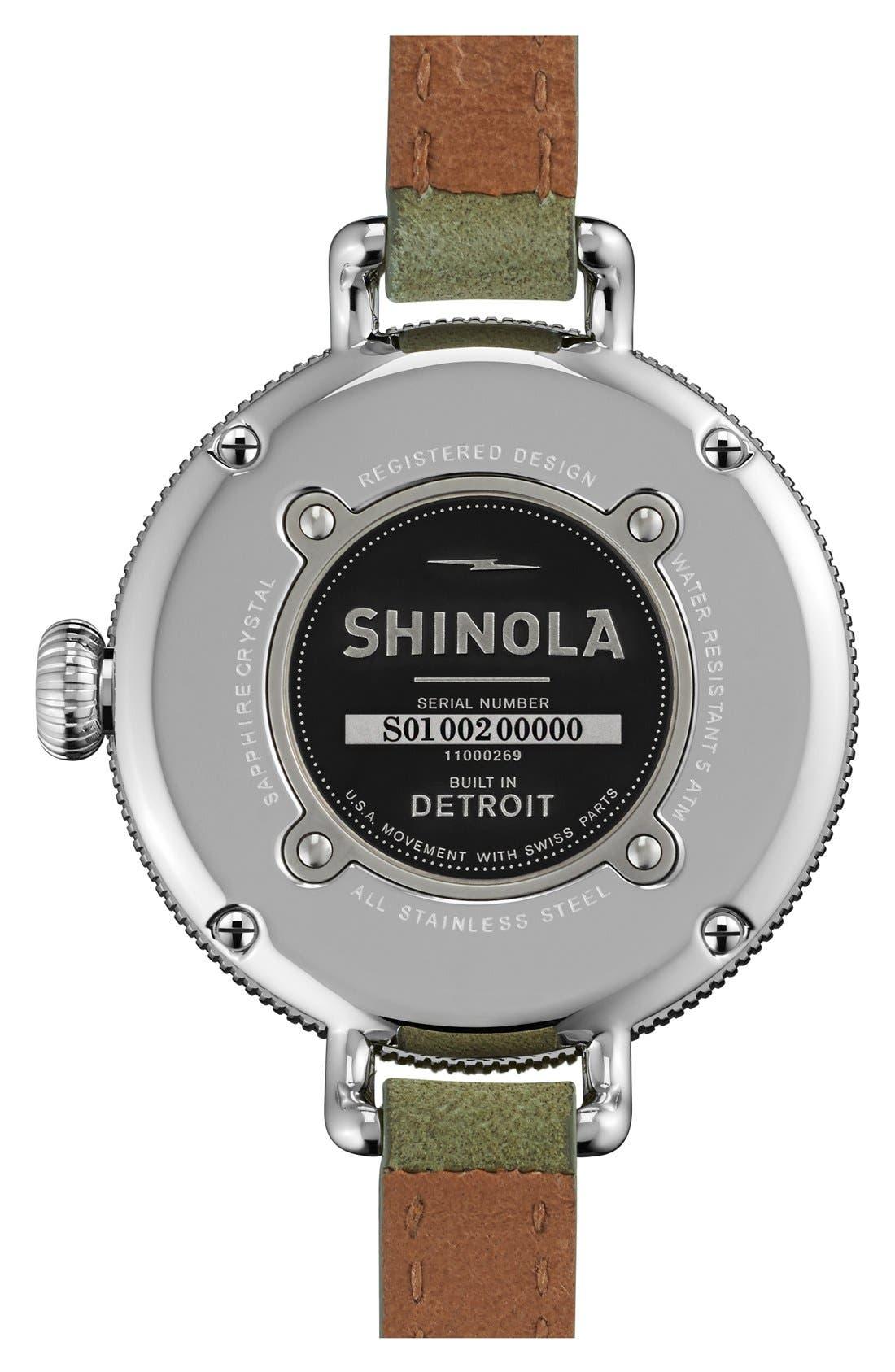Alternate Image 2  - Shinola 'The Birdy' Double Wrap Leather Strap Watch, 34mm