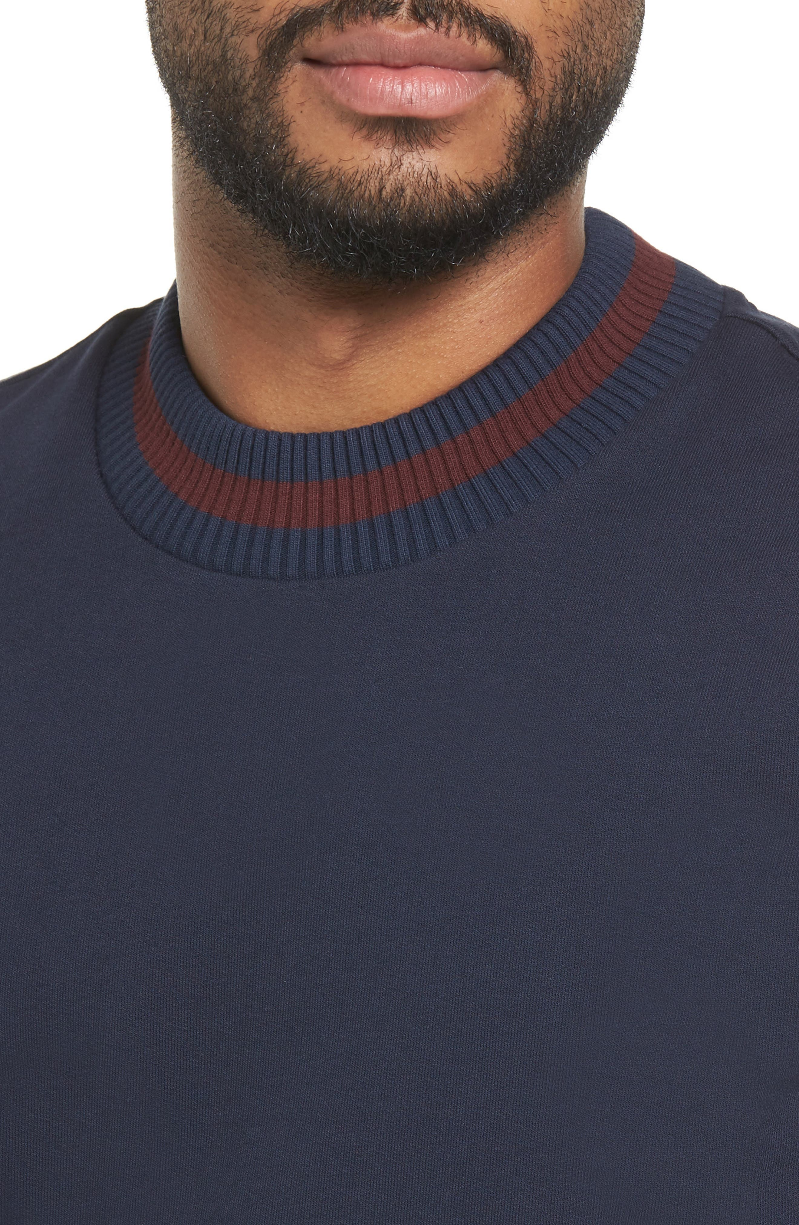 Skubic Slim Crewneck Sweatshirt,                             Alternate thumbnail 4, color,                             Navy