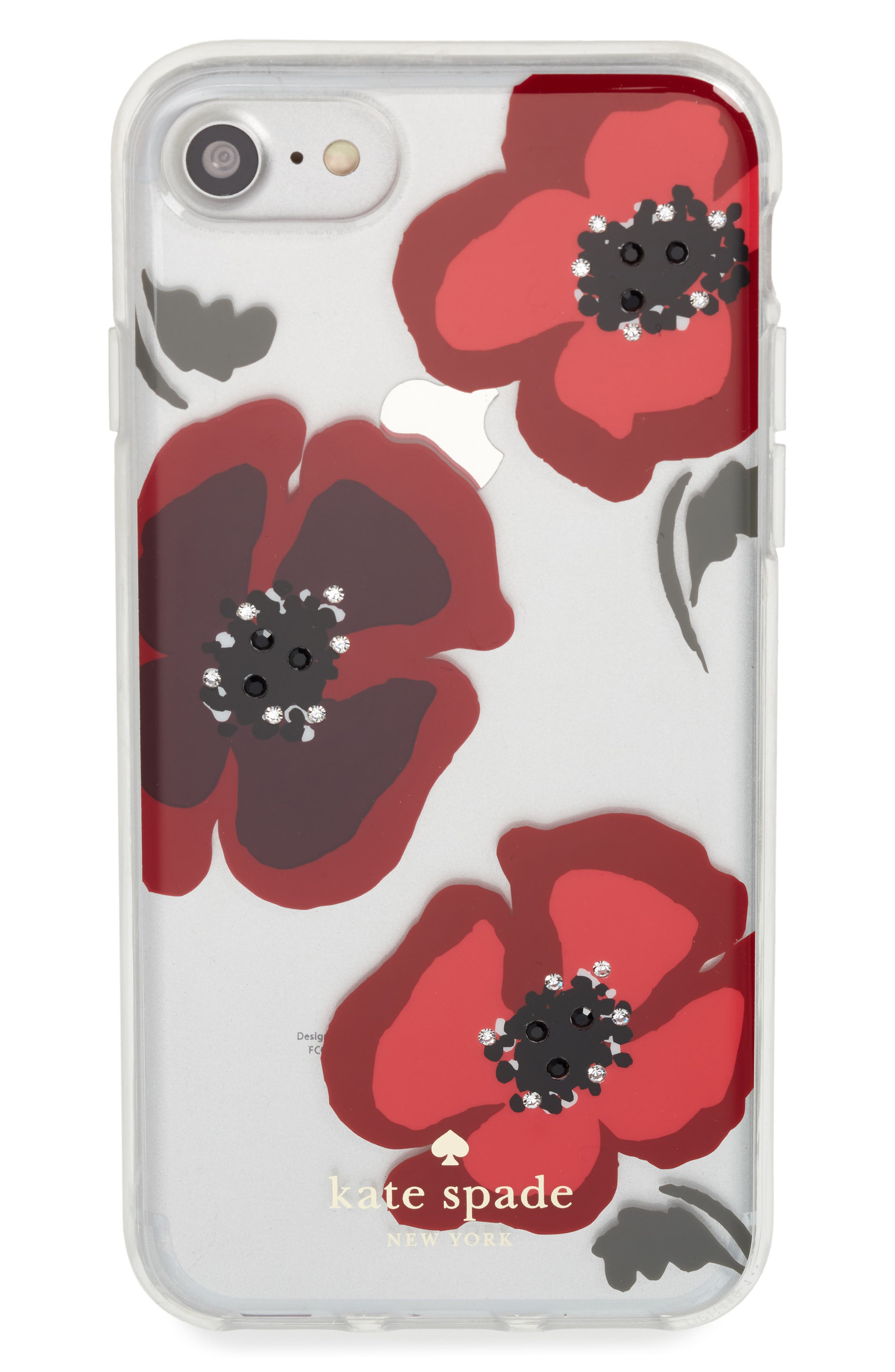 Alternate Image 1 Selected - kate spade new york jeweled poppy iPhone 7/8 & 7/8 Plus case