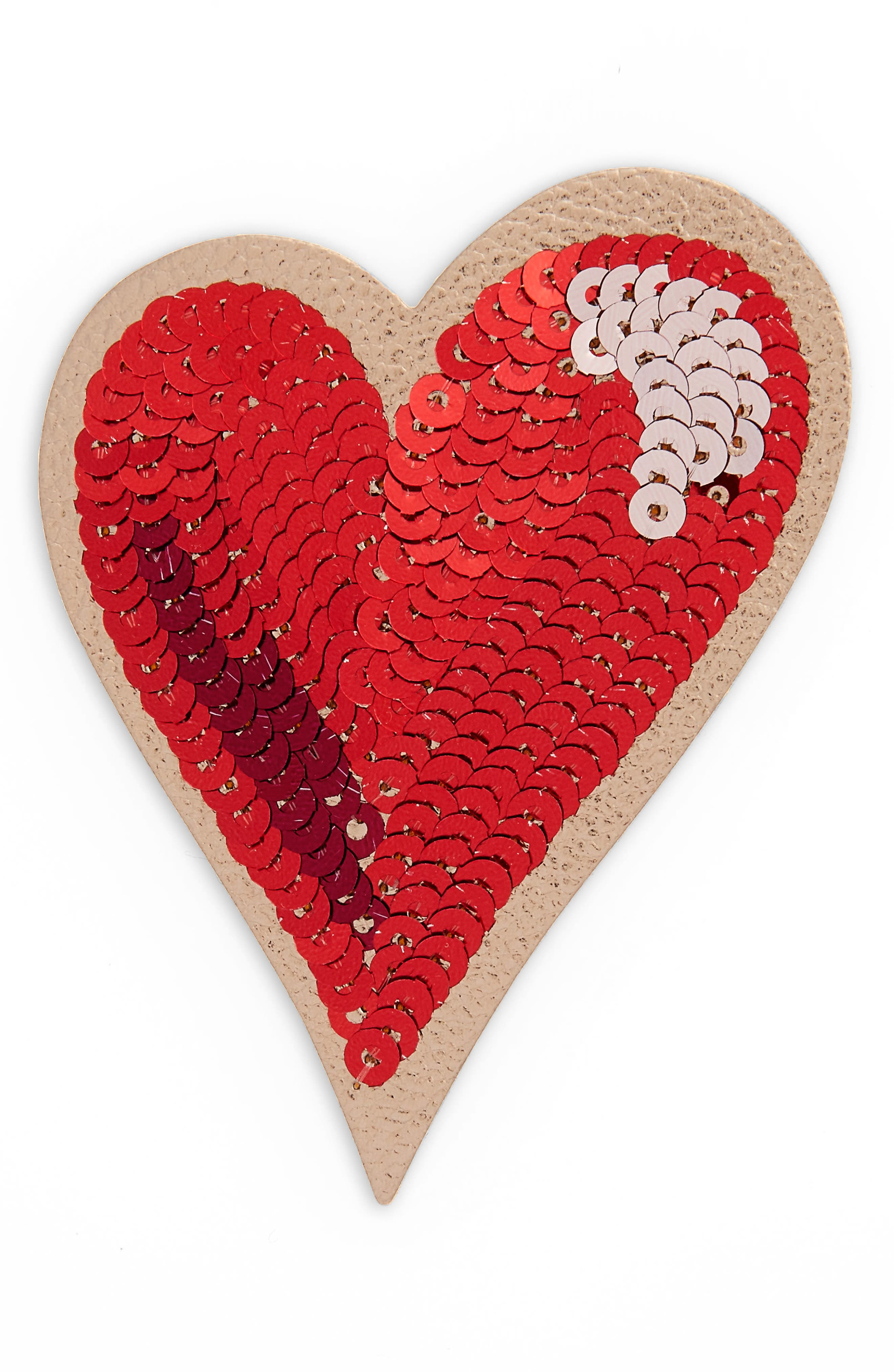 kate spade new york ashe place sequin heart permanent sticker