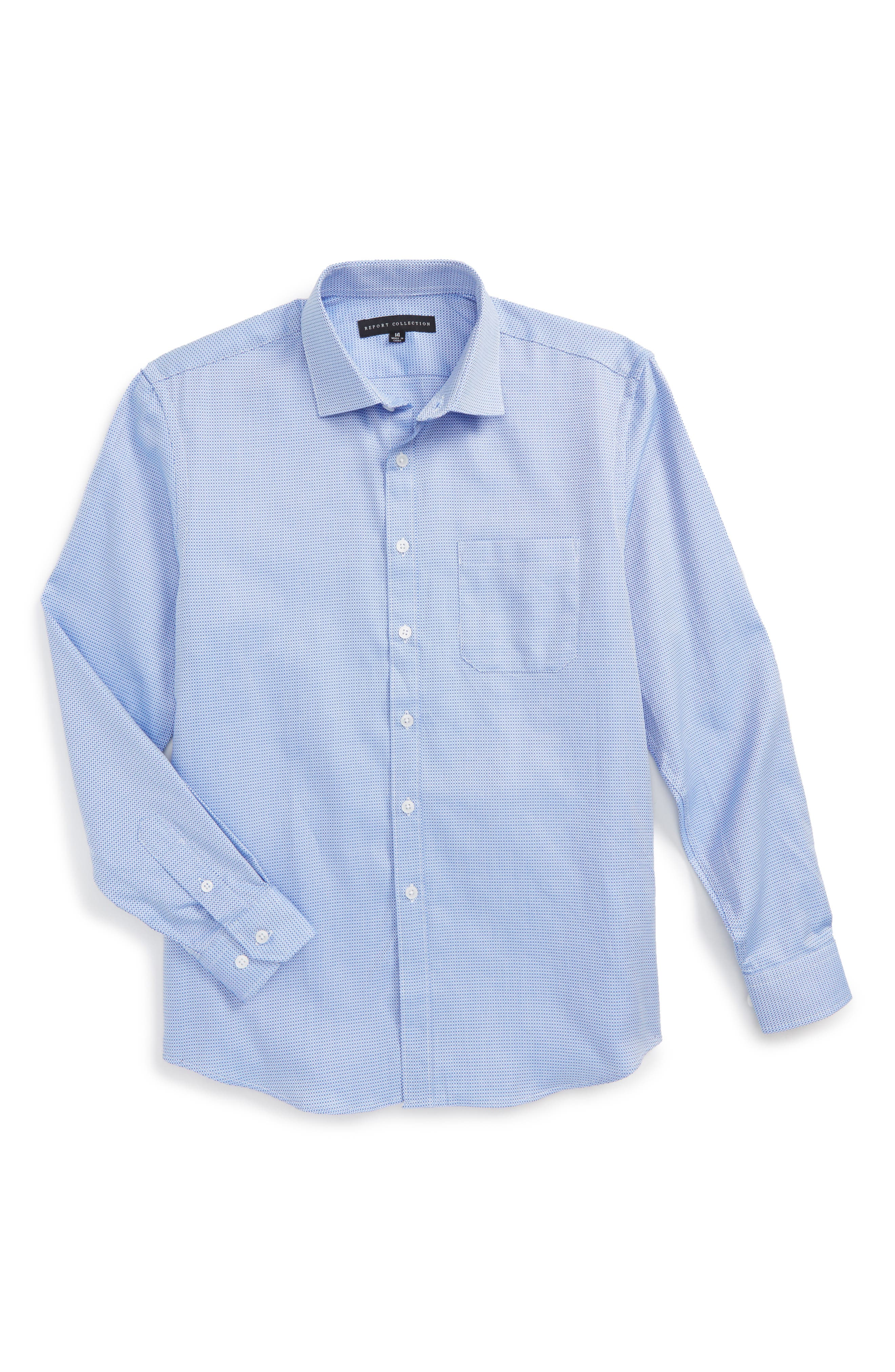 Main Image - Report Collection Textured Dress Shirt (Big Boys)