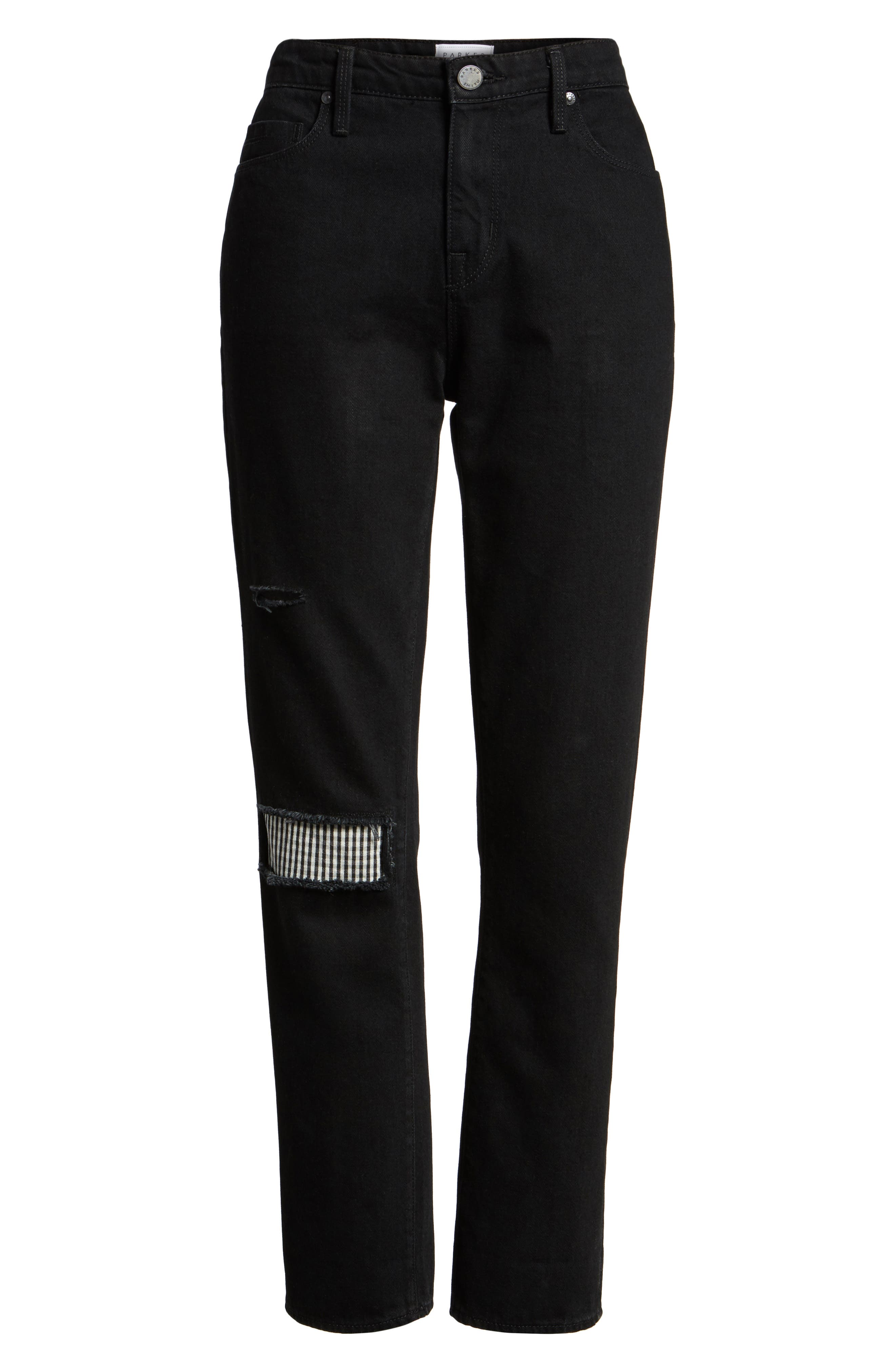 Alternate Image 6  - PARKER SMITH Anti-Fit Ankle Straight Jeans (Black Magic)