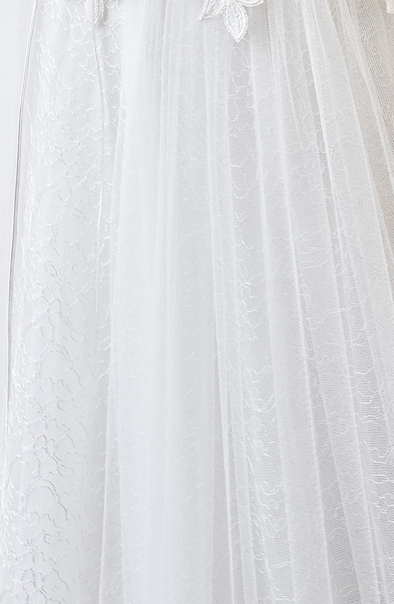 Inmaculada García Larimar Lace & Tulle A-Line Gown,                             Alternate thumbnail 3, color,                             Ivory