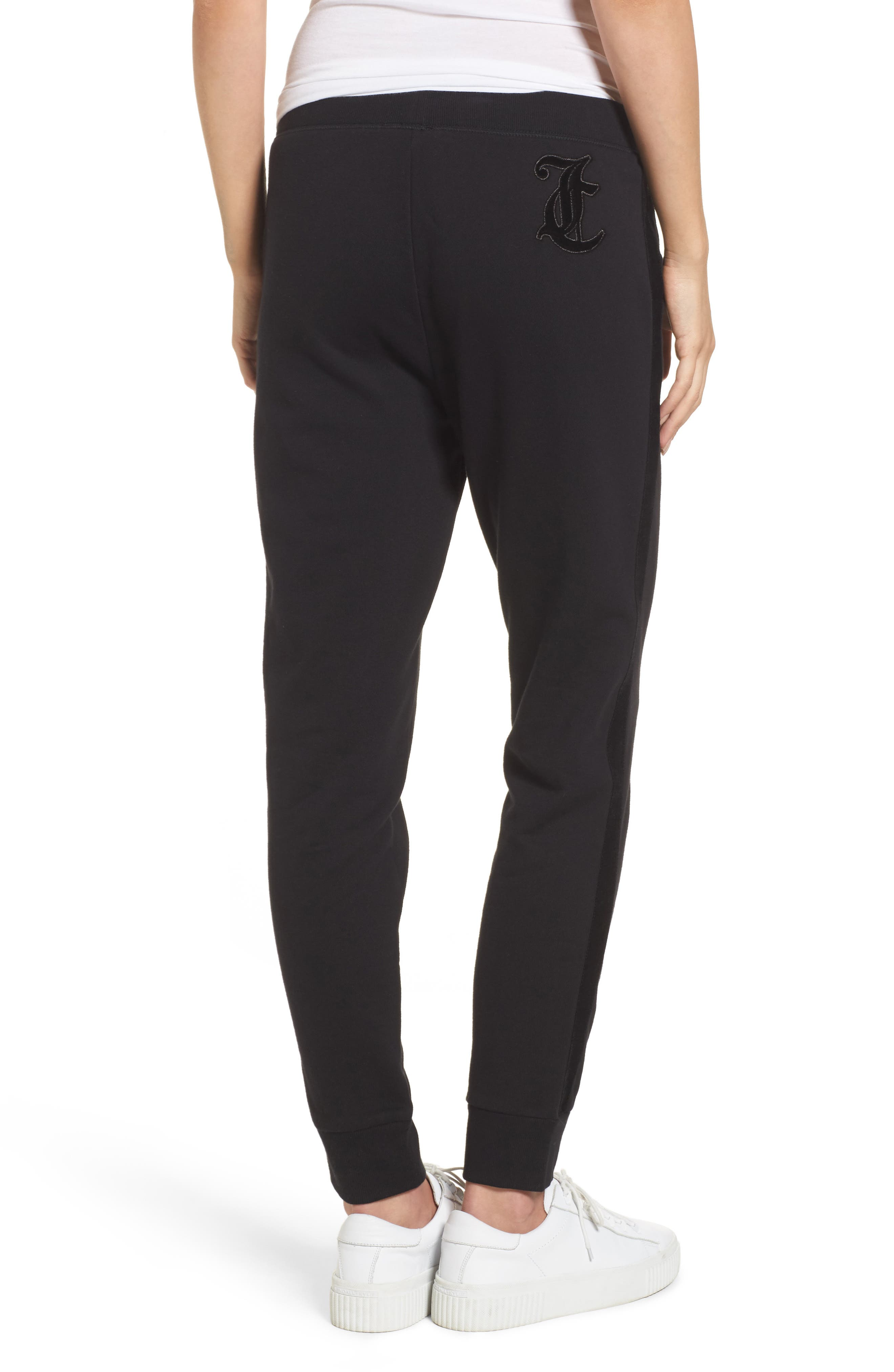 Elevate French Terry Track Pants,                             Alternate thumbnail 2, color,                             Pitch Black