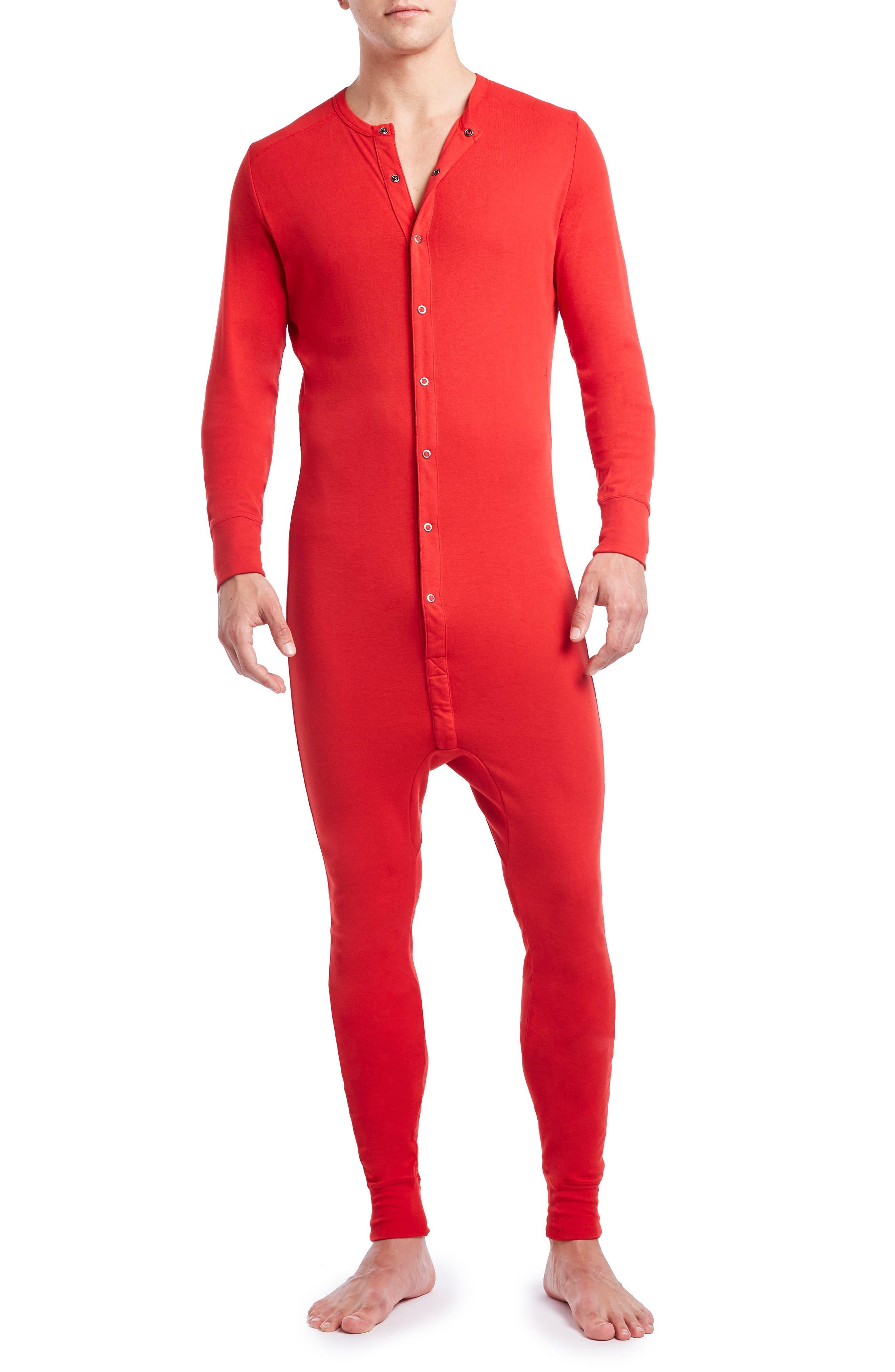 Union Suit,                             Main thumbnail 1, color,                             Salsa Red