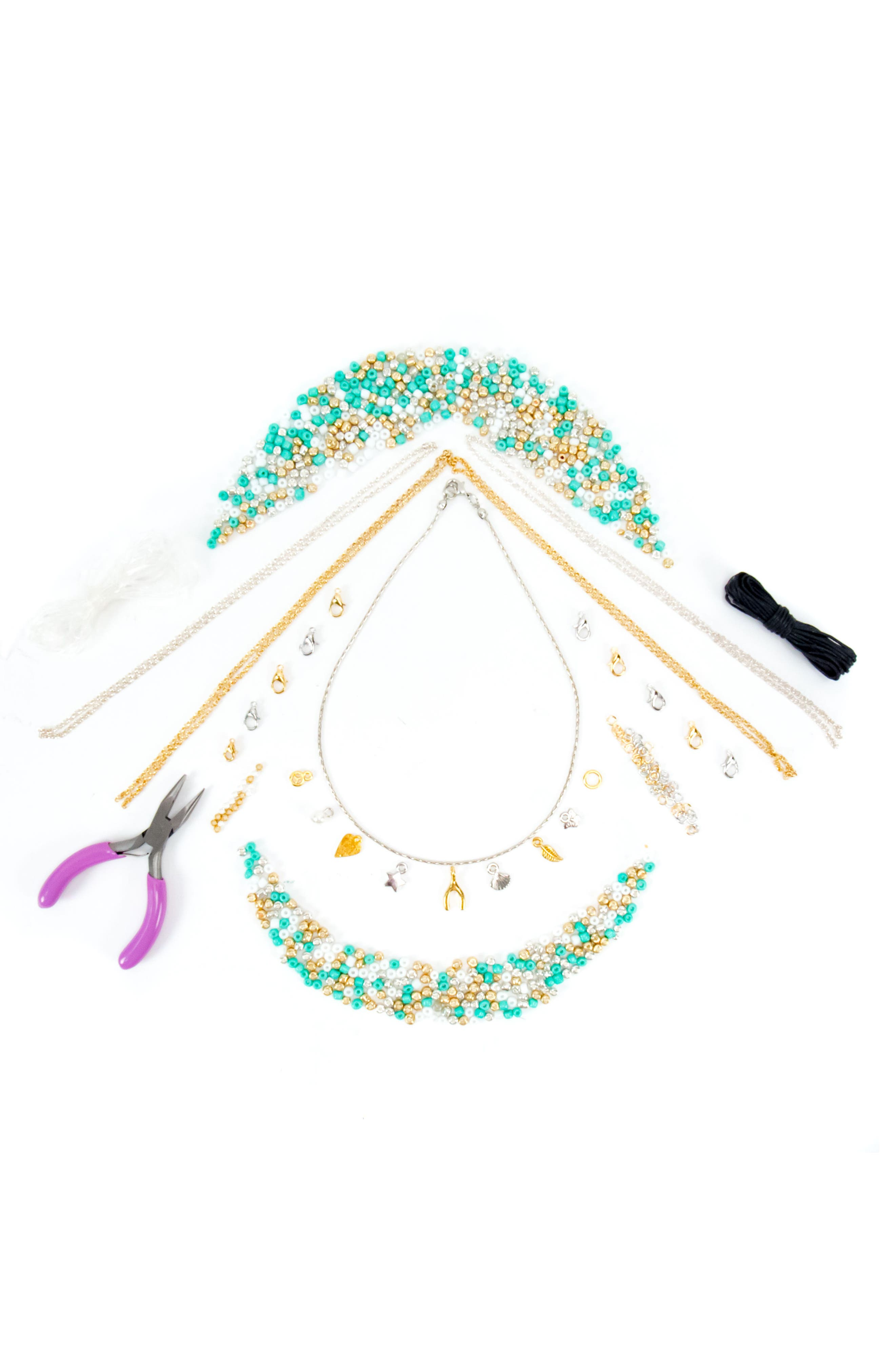DIY Simply Charming Jewelry Kit,                             Alternate thumbnail 2, color,                             Gold Multi