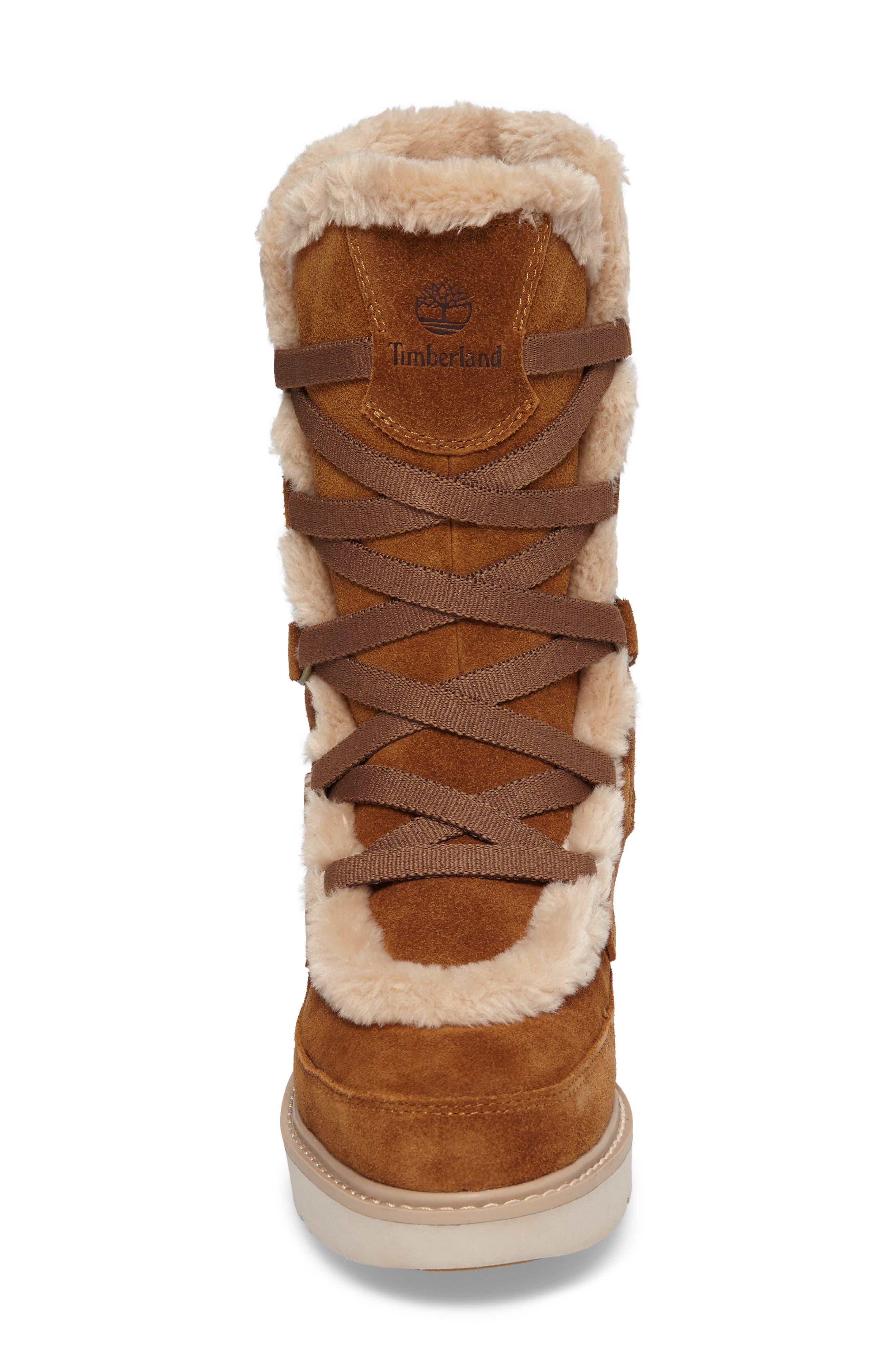 Alternate Image 4  - Timberland Kenniston Faux Fur Water Resistant Mukluk Boot (Women)