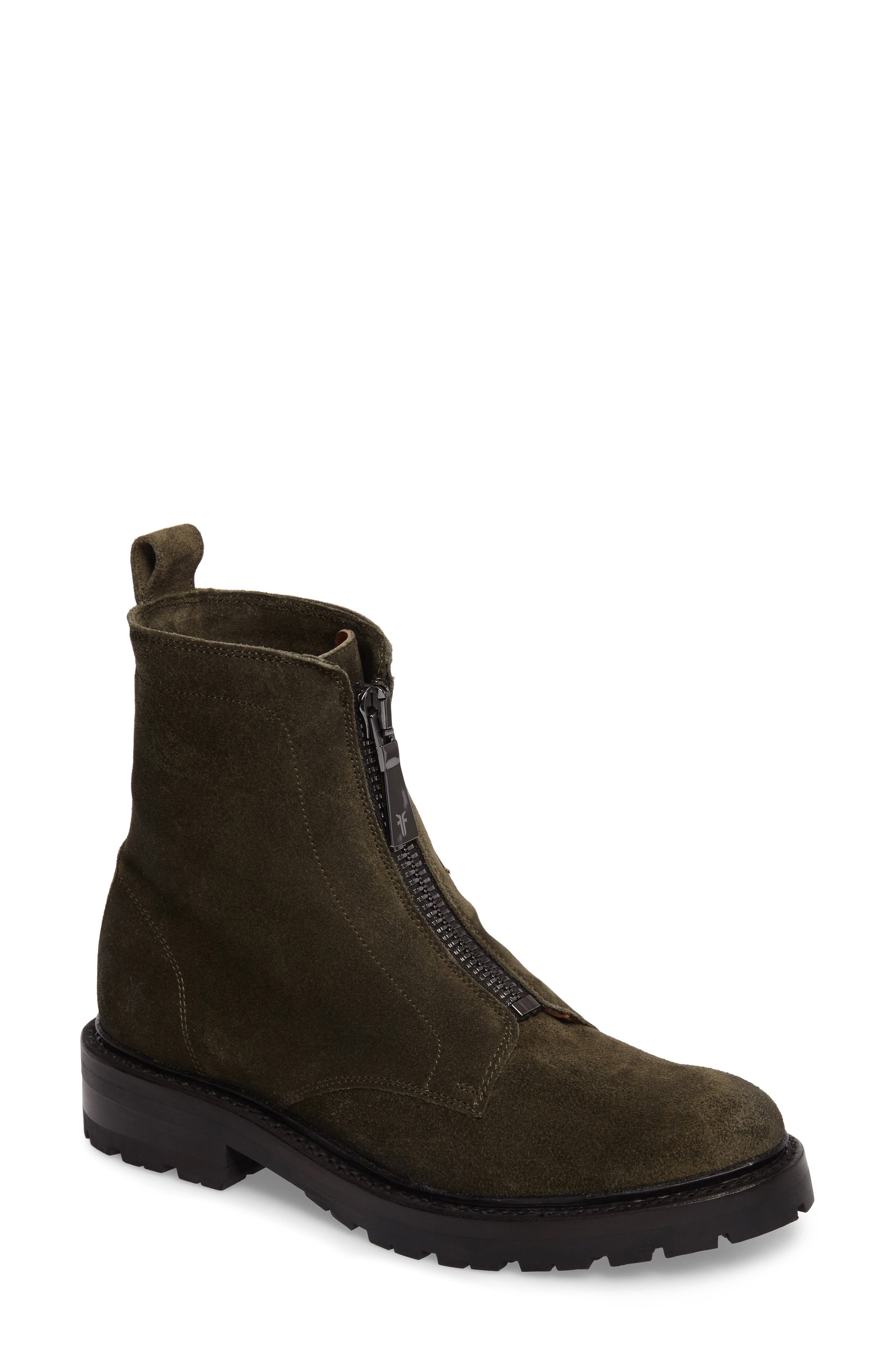 Frye Julie Front Zip Combat Boot (Women)