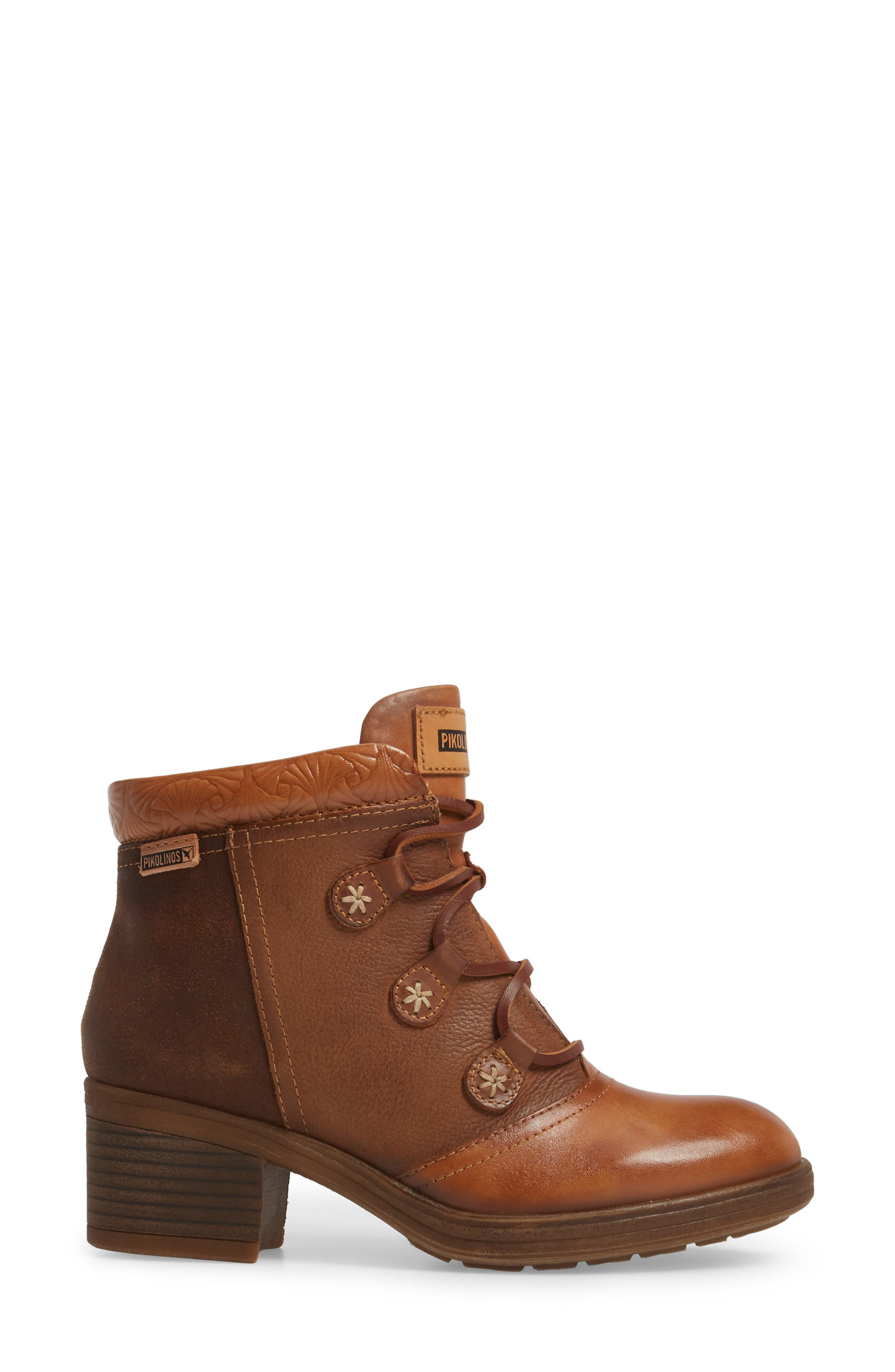 Lyon Lace-Up Boot,                             Alternate thumbnail 3, color,                             Brandy Leather
